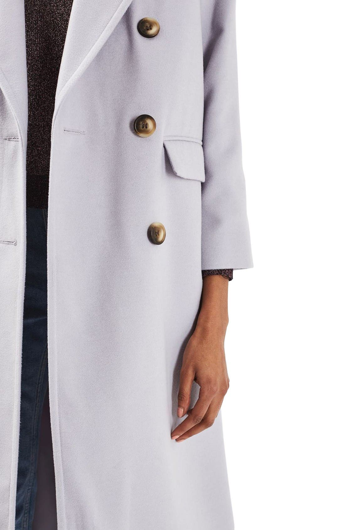 Alternate Image 5  - Topshop Double Breasted Coat