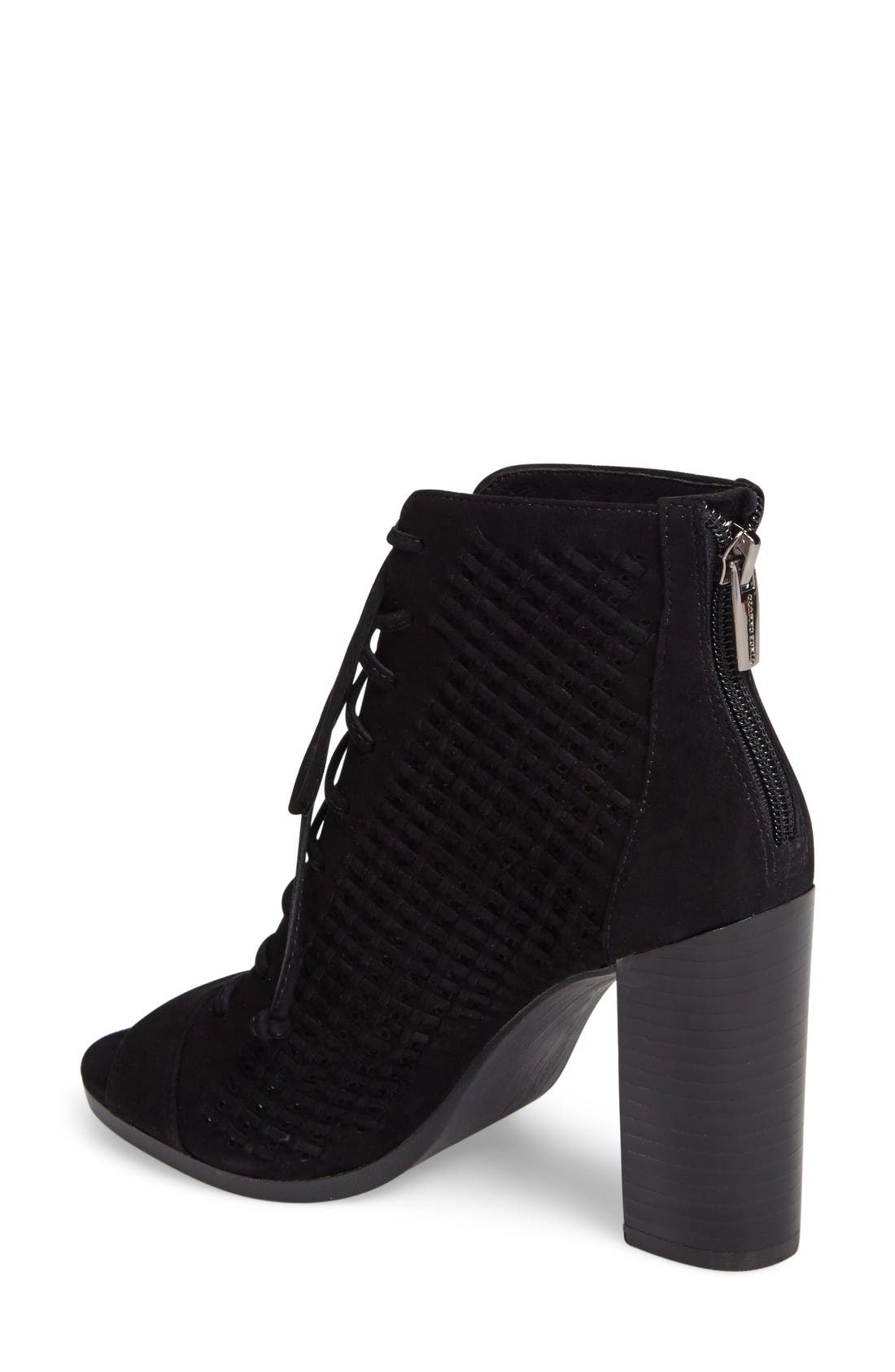 Alternate Image 2  - Vince Camuto Kevina Lace-Up Open Toe Bootie (Women)