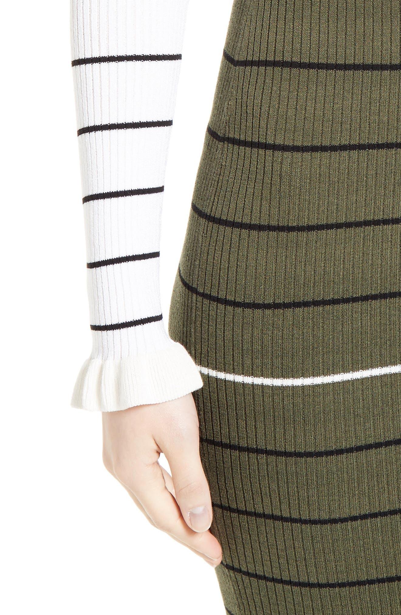 Alternate Image 4  - Opening Ceremony Stripe Rib Knit Dress