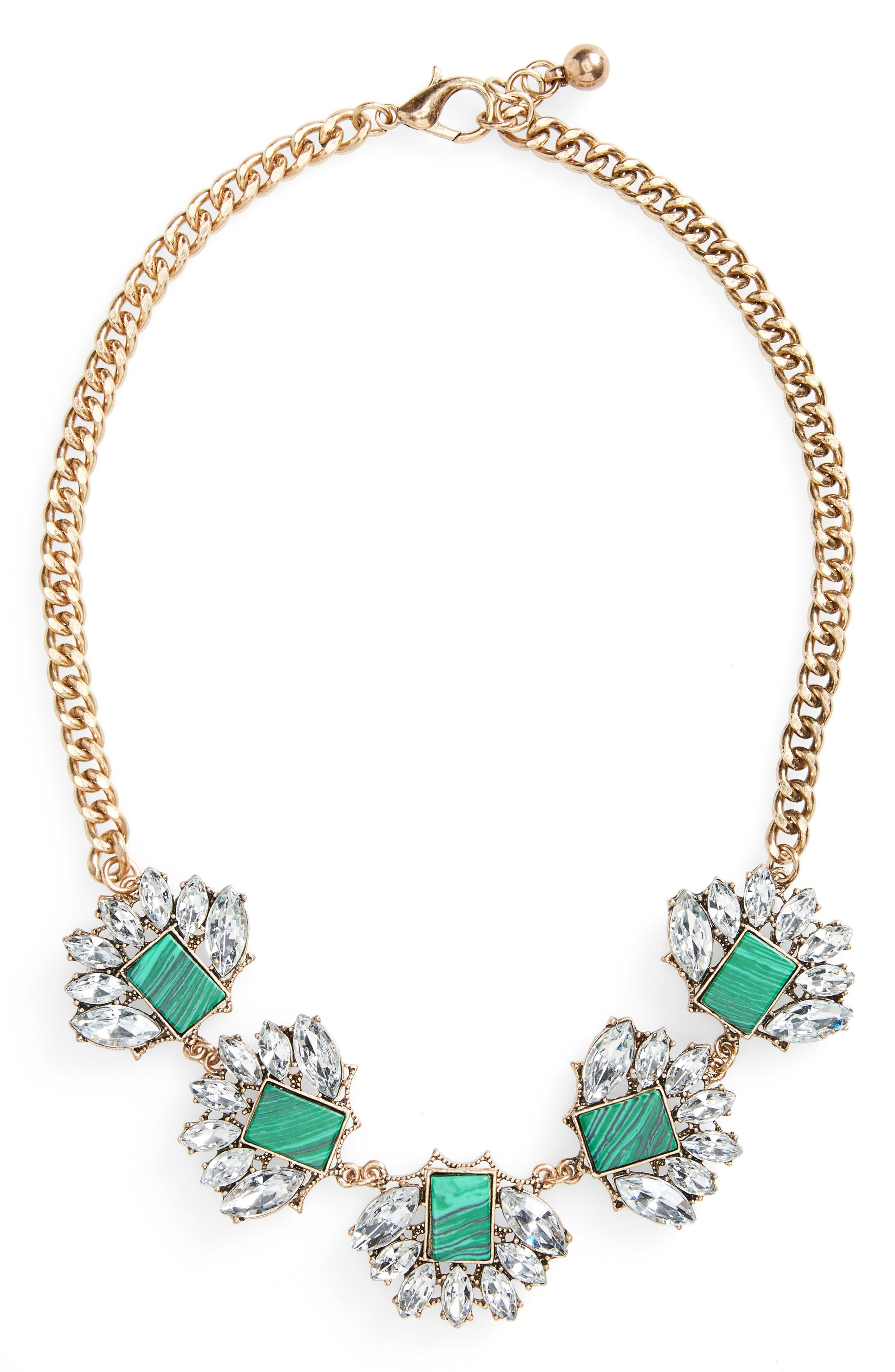Alternate Image 1 Selected - Sole Society Stone Statement Necklace