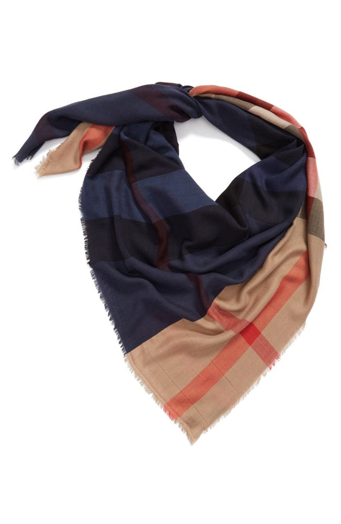Burberry check silk blend travel scarf nordstrom for Travel scarf