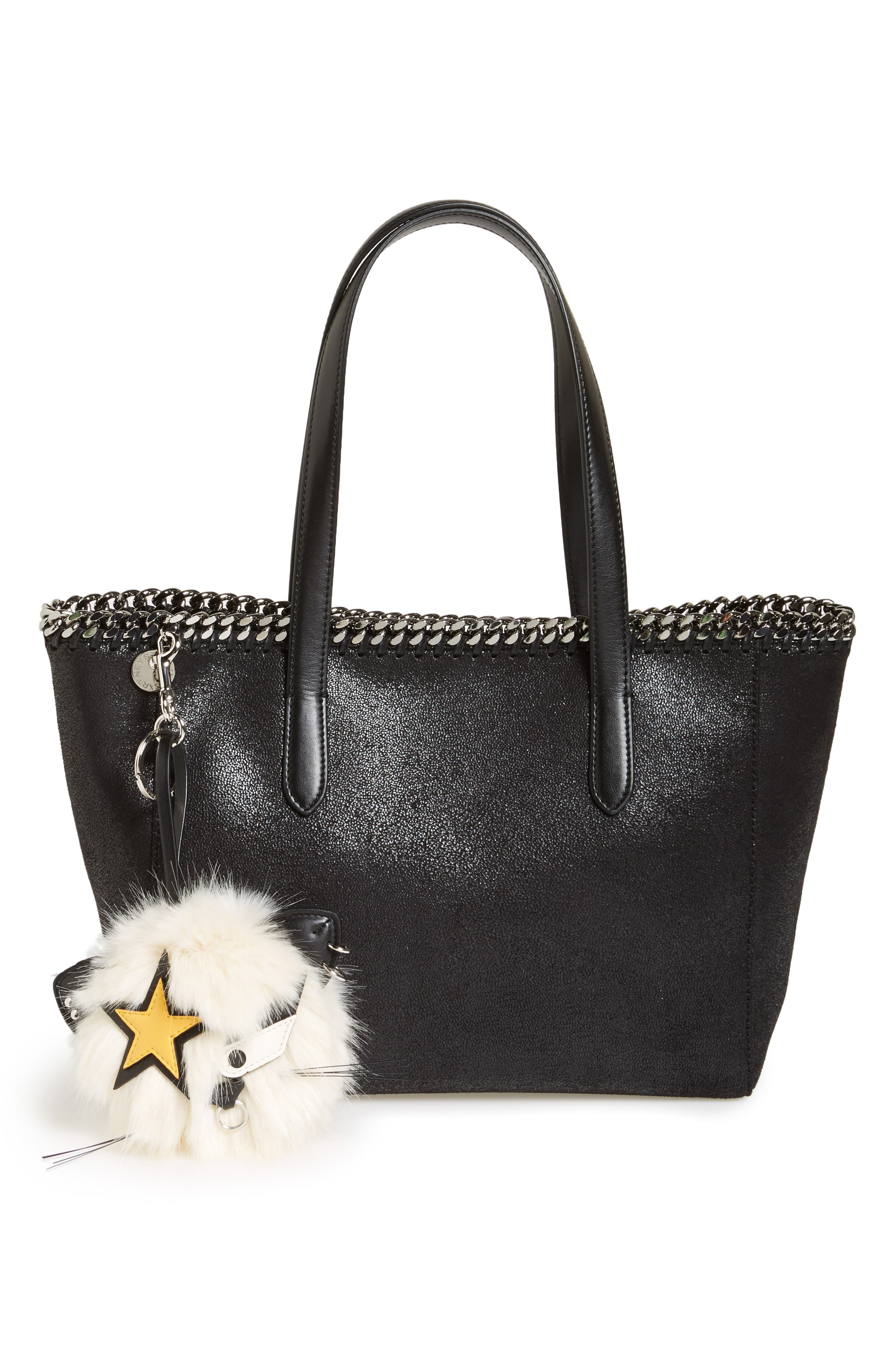 Alternate Image 2  - Stella McCartney Cat Star Patch Faux Fur Bag Charm