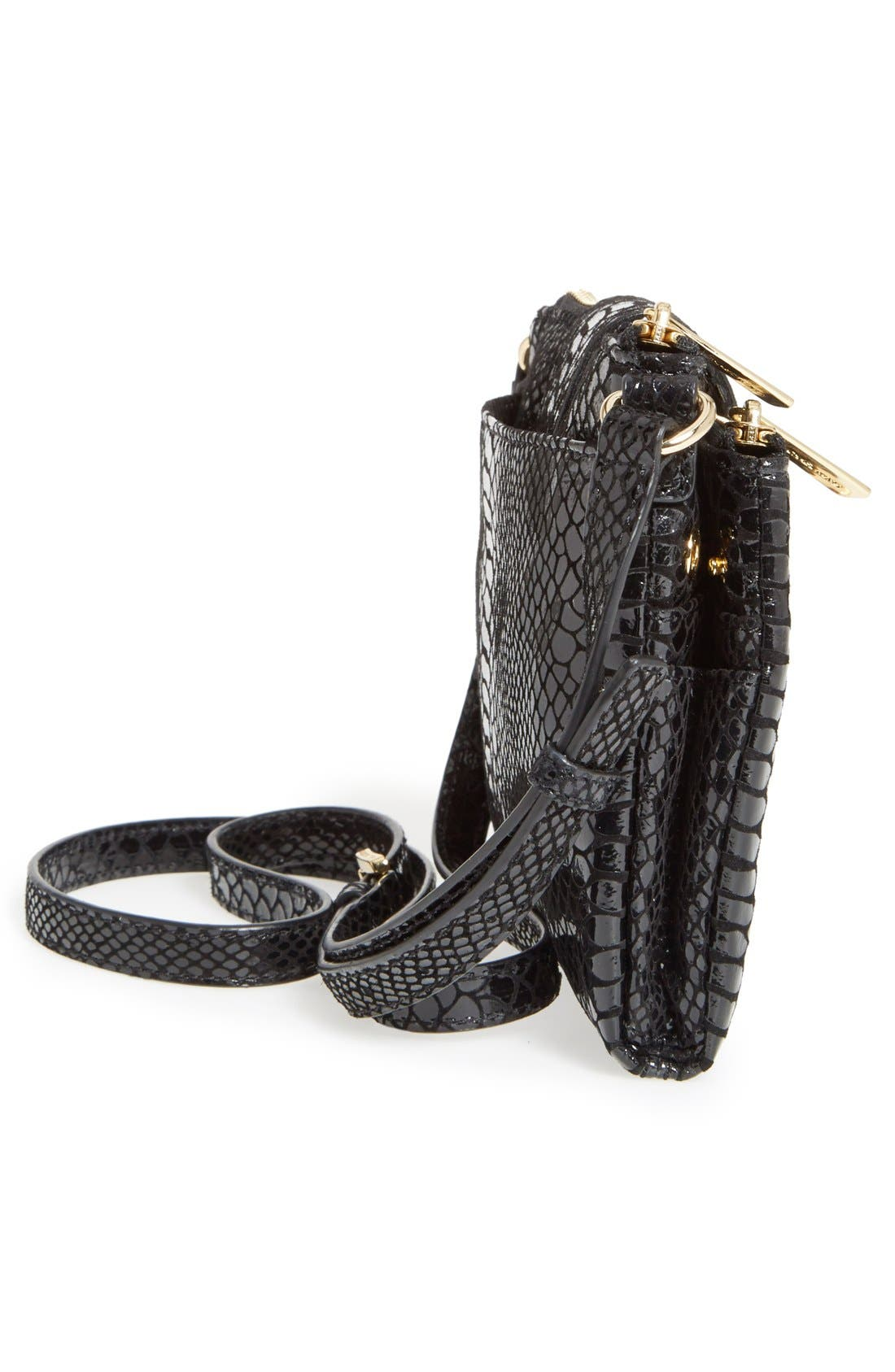 Alternate Image 4  - MICHAEL Michael Kors 'Large Fulton' Embossed Patent Crossbody Bag