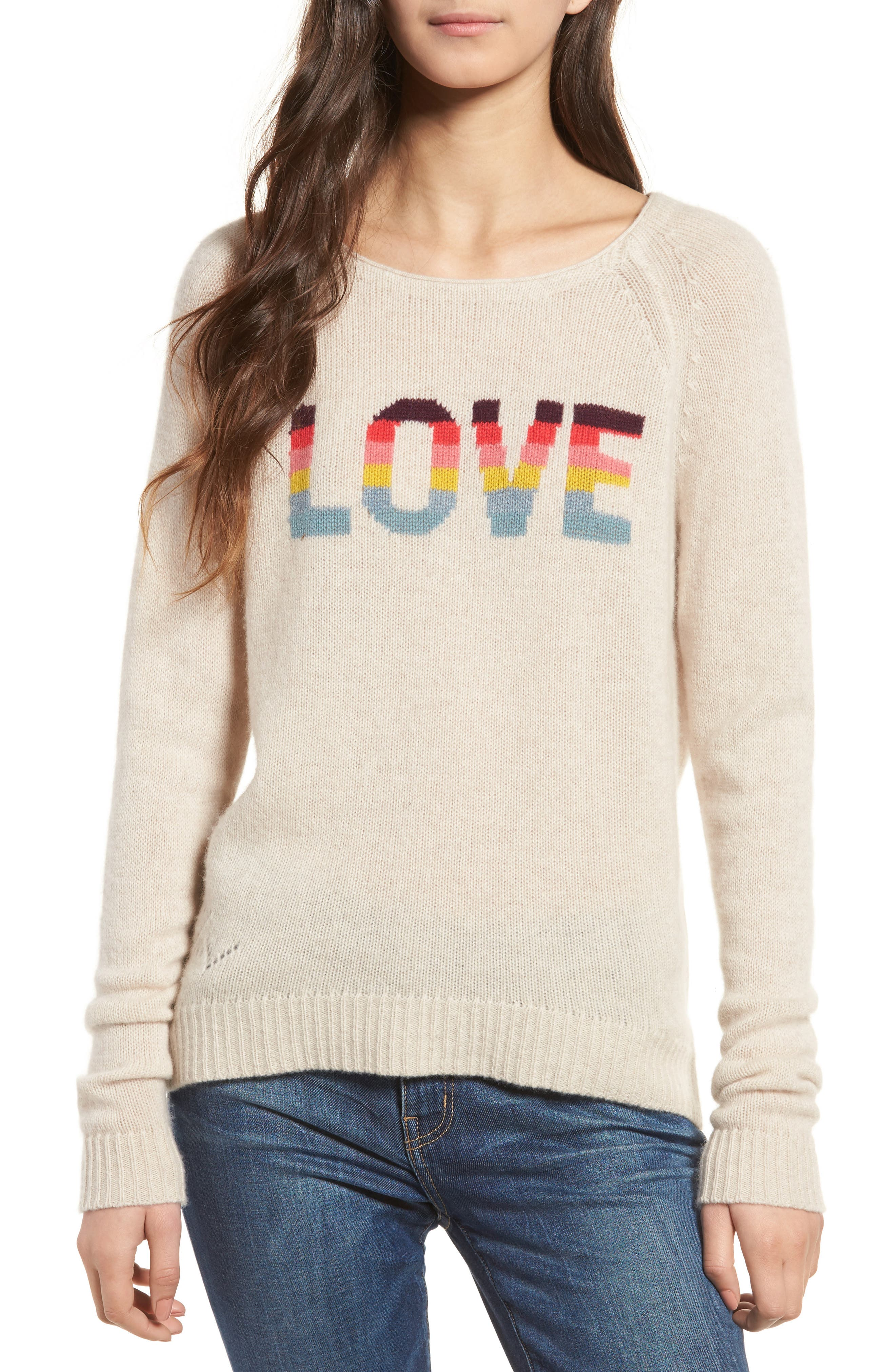 Alternate Image 1 Selected - Zadig & Voltaire Baly Bis Cashmere Sweater