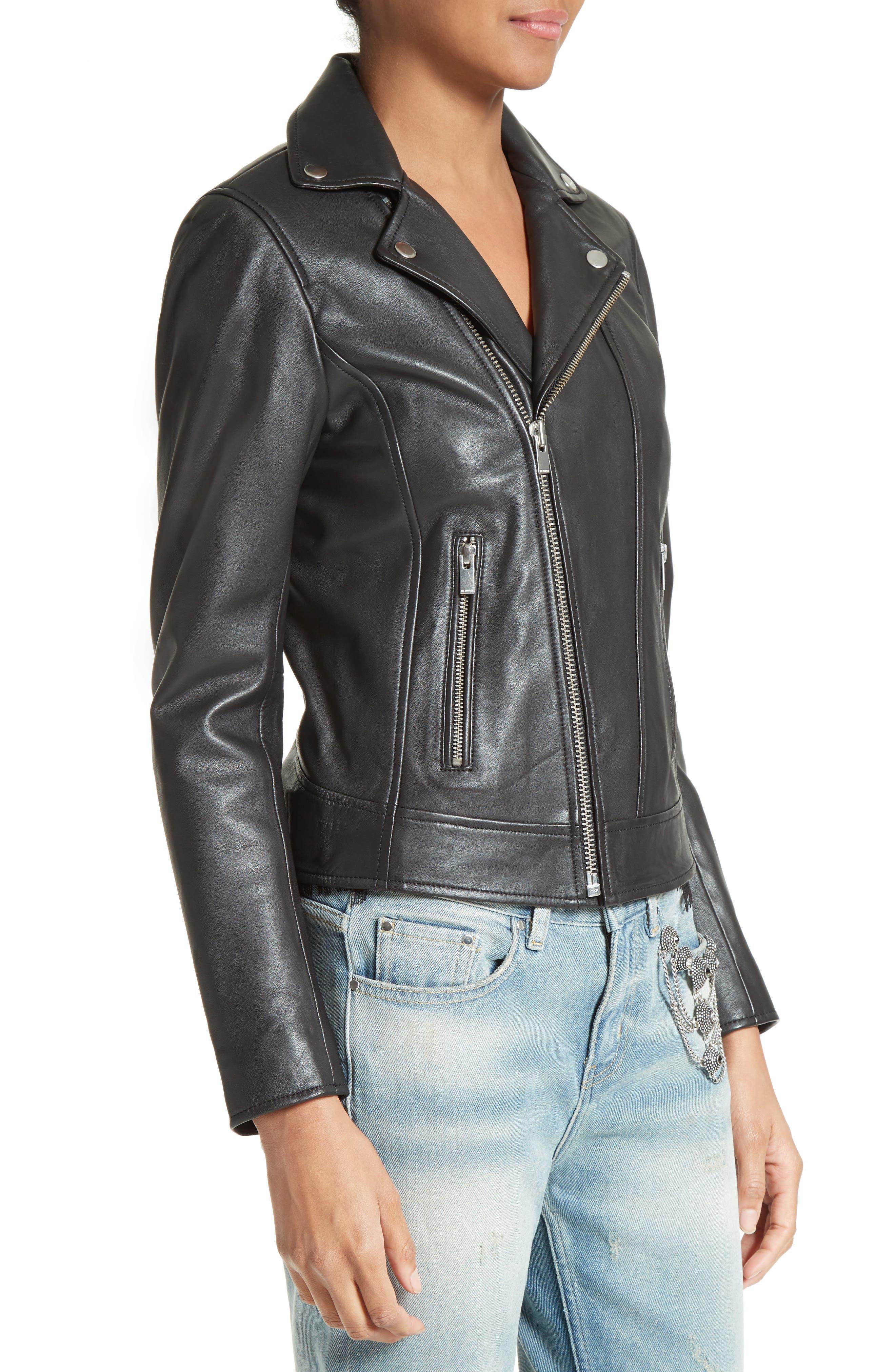 Alternate Image 5  - The Kooples Lambskin Leather Jacket