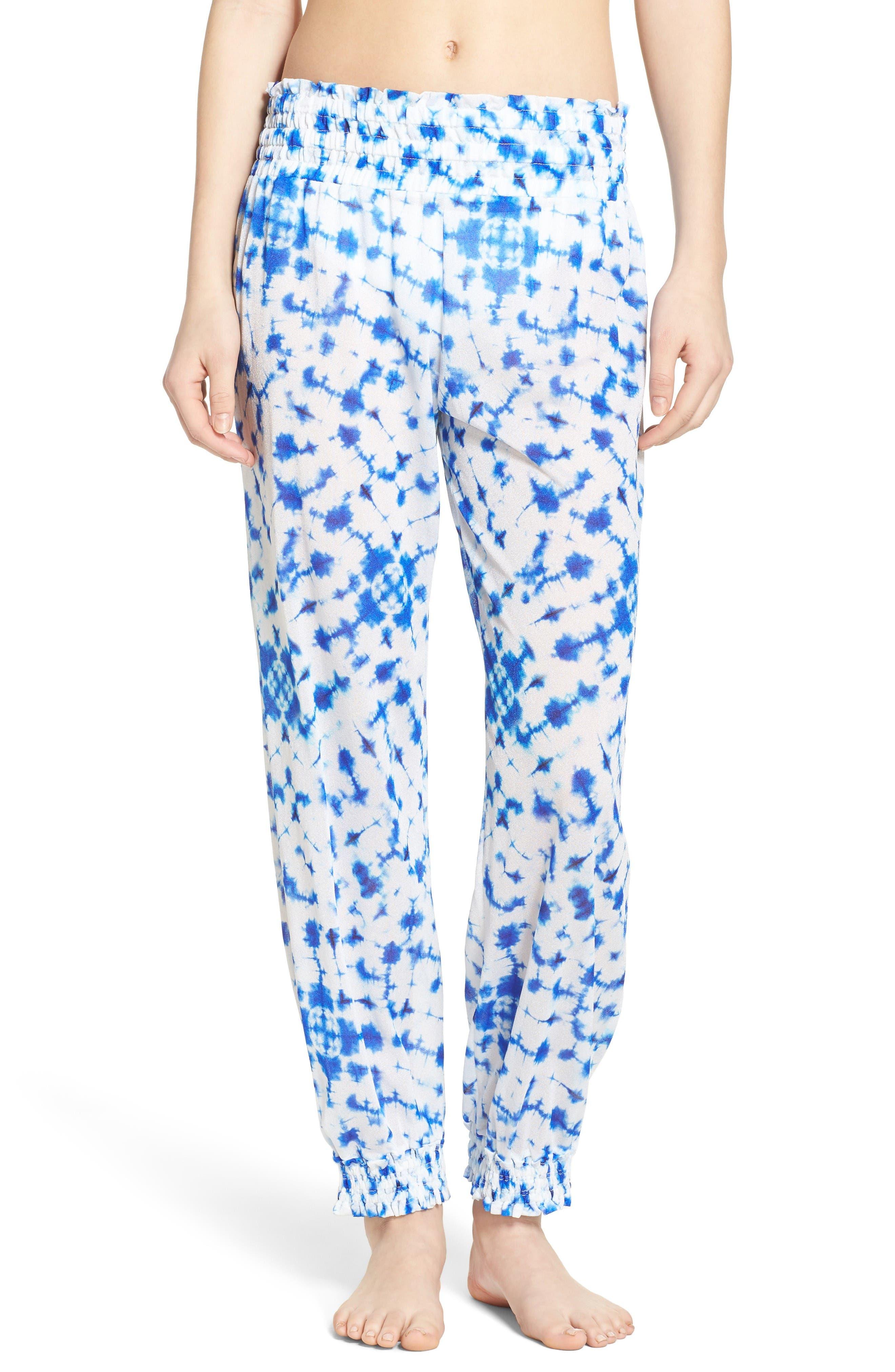 Luli Fama Print Cover-Up Pants