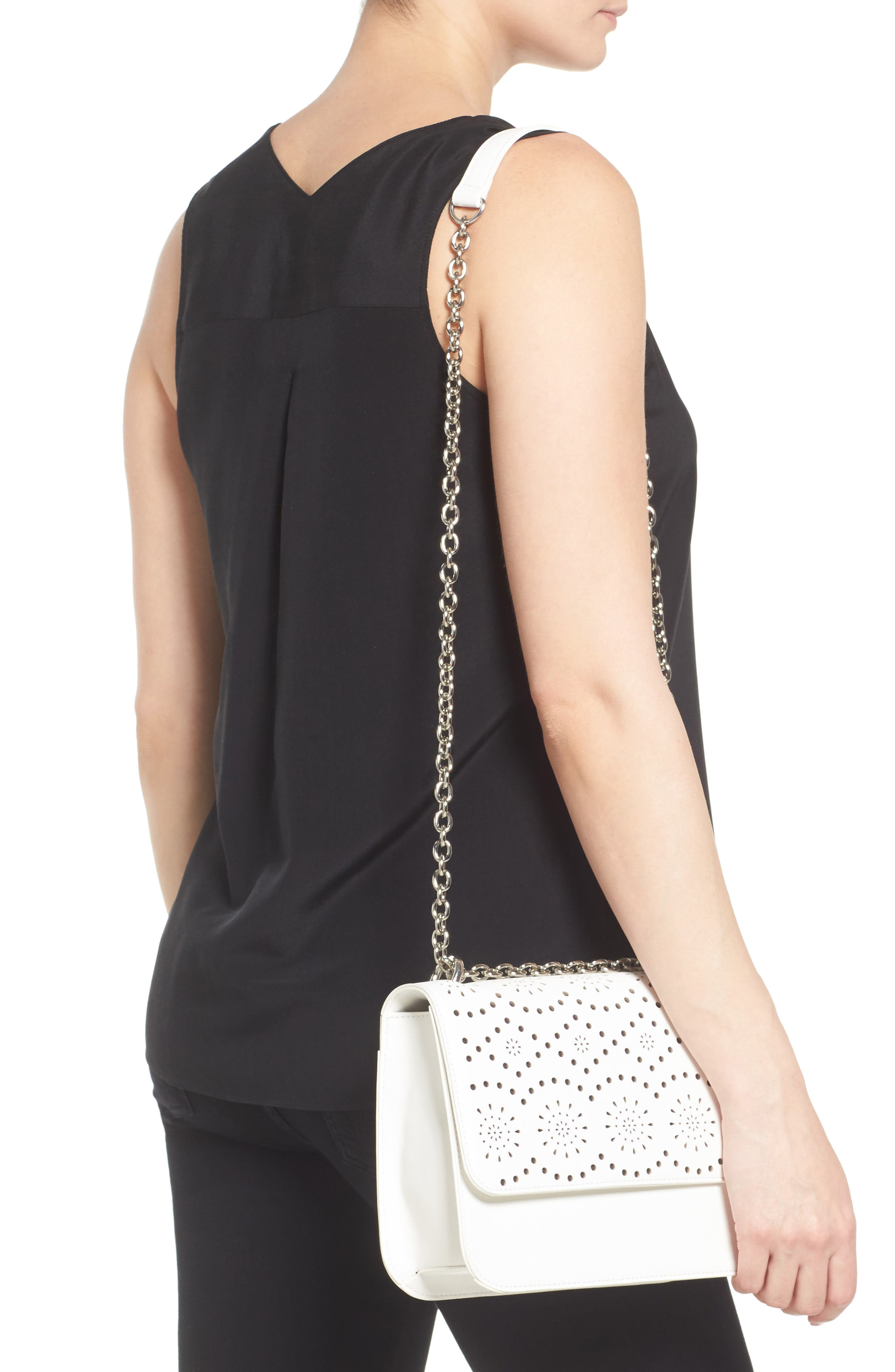 Alternate Image 2  - Chelsea28 Dahlia Perforated Faux Leather Shoulder Bag