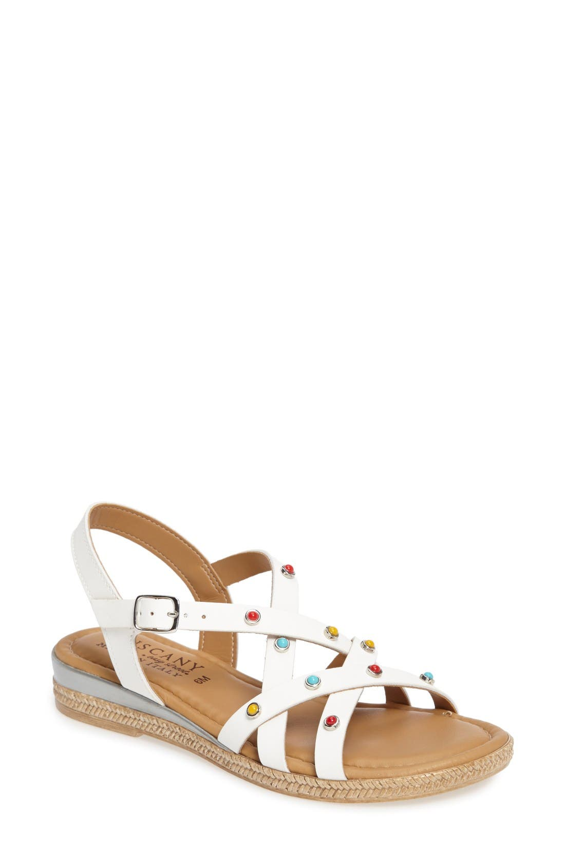 TUSCANY by Easy Street® Renata Studded Strappy Sandal (Women)