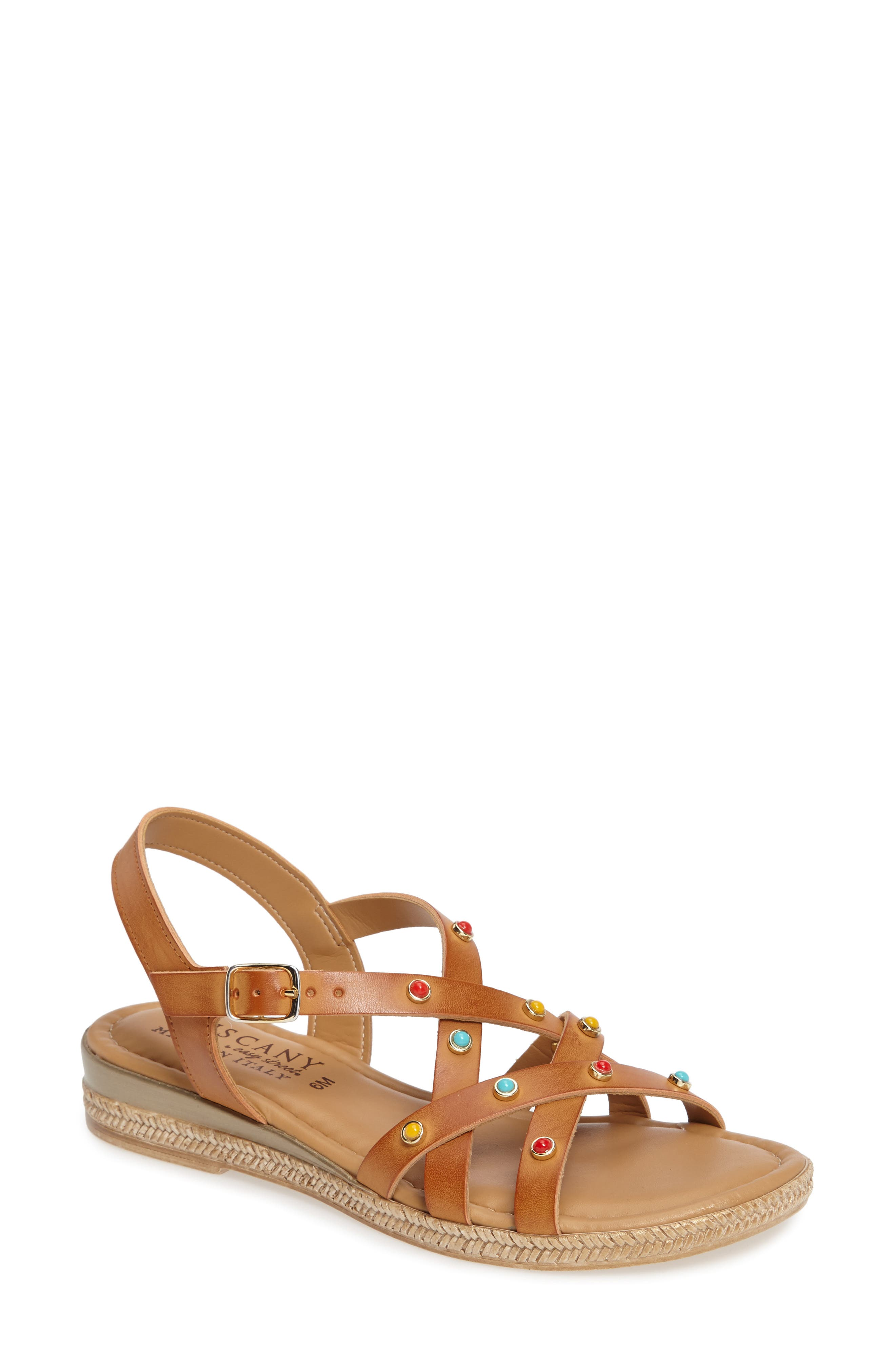 TUSCANY by Easy Street® Renata Studded Strappy Sandal