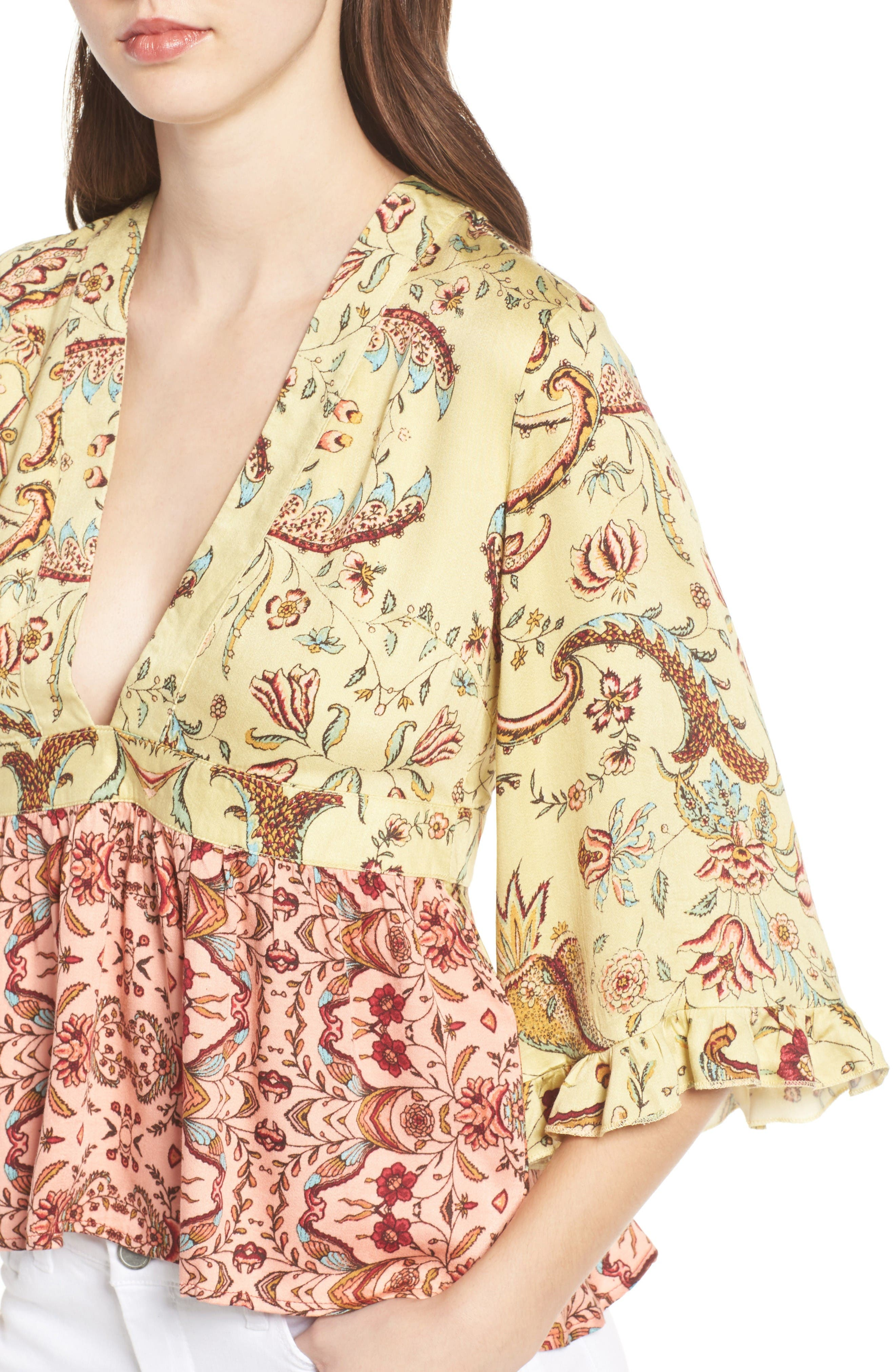 Alternate Image 4  - Somedays Lovin Sounds of Heart Kimono Top