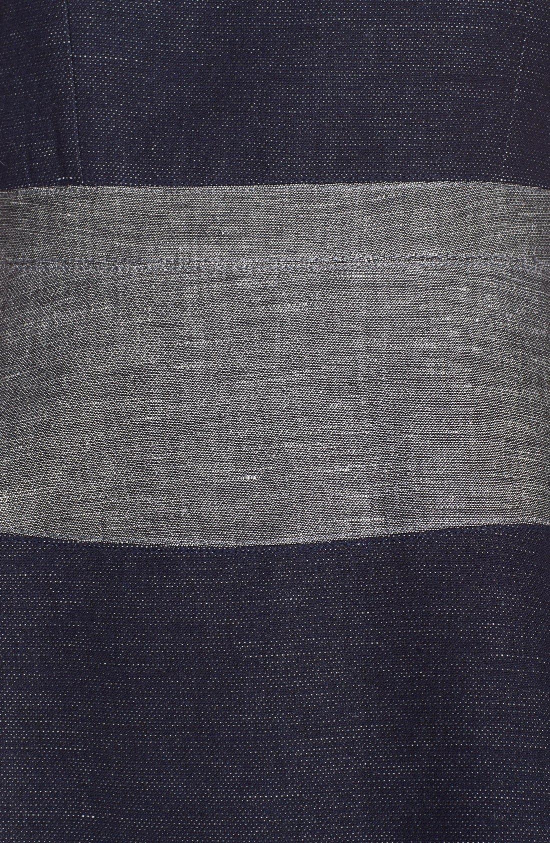 Alternate Image 4  - BCBGMAXAZRIA 'Romee' Stripe Fit & Flare Dress