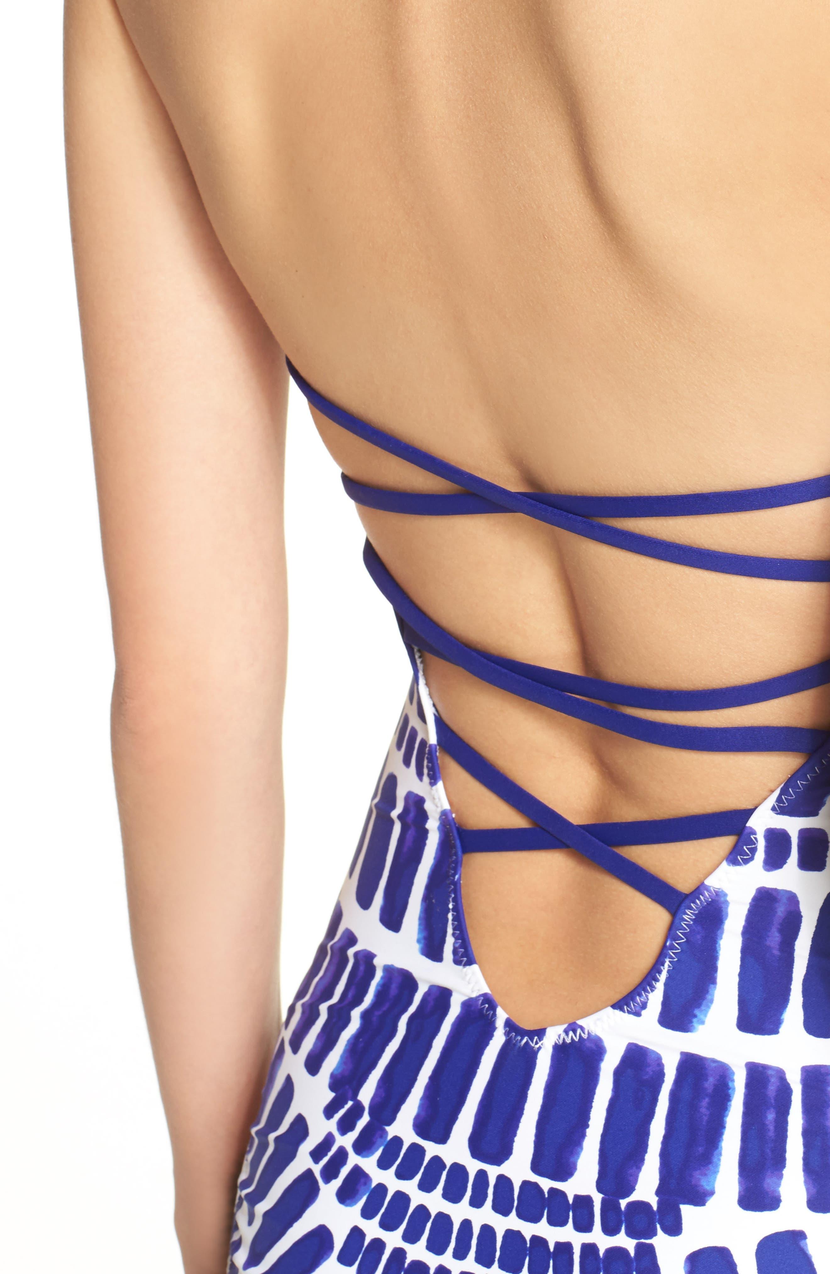 Alternate Image 4  - Trina Turk 'Algiers' High Neck One-Piece Swimsuit