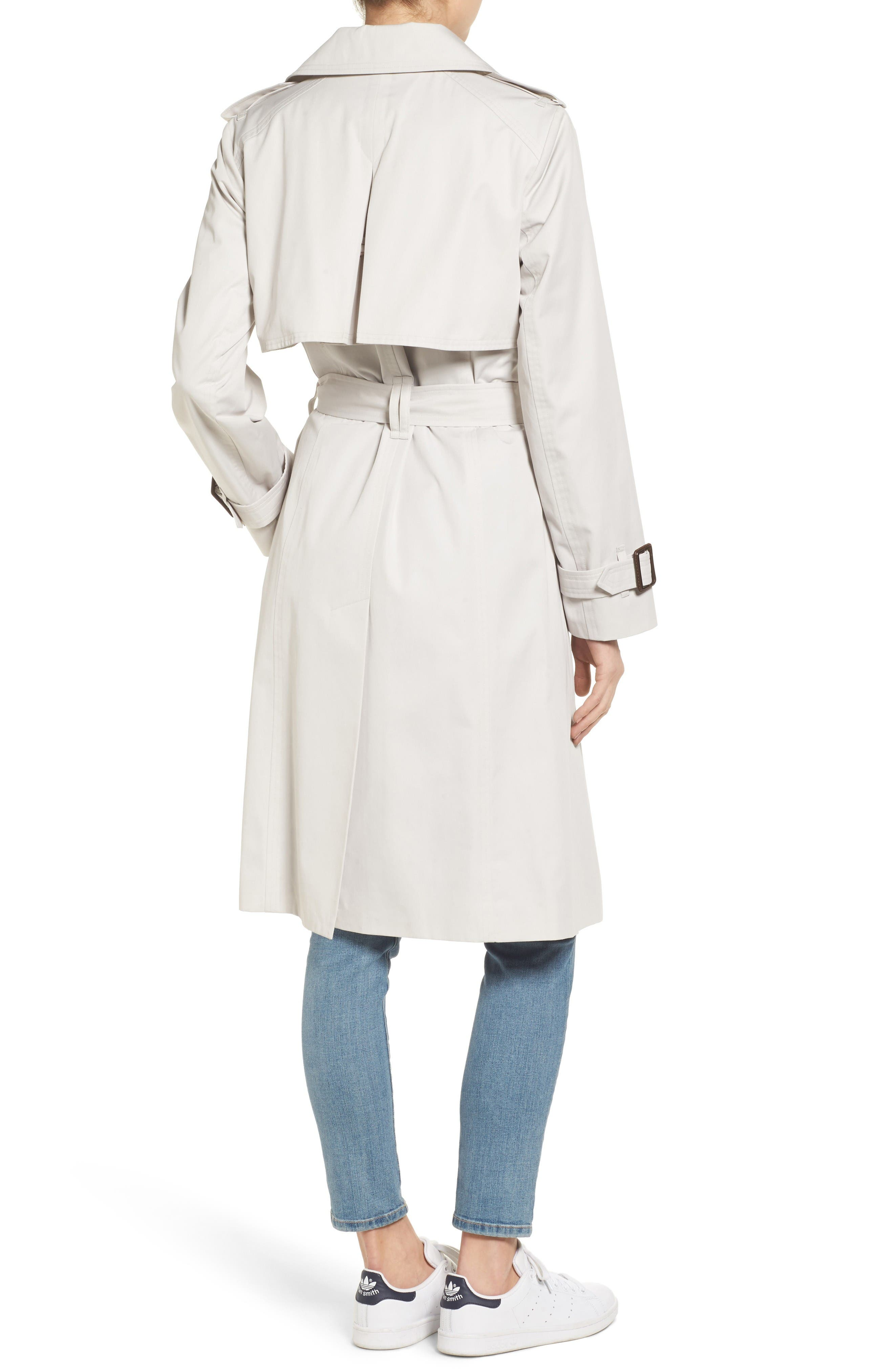 Alternate Image 2  - London Fog Double Breasted Trench Coat
