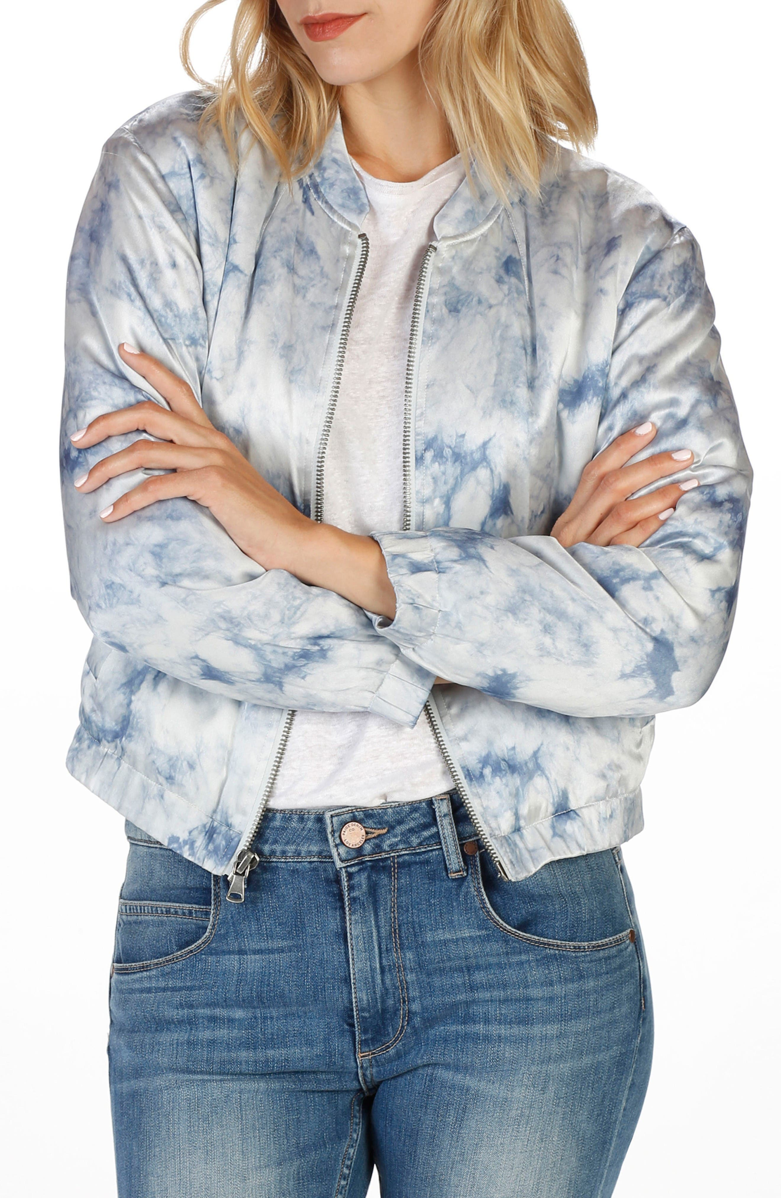 Main Image - Rosie HW x PAIGE Flo Silk Bomber Jacket