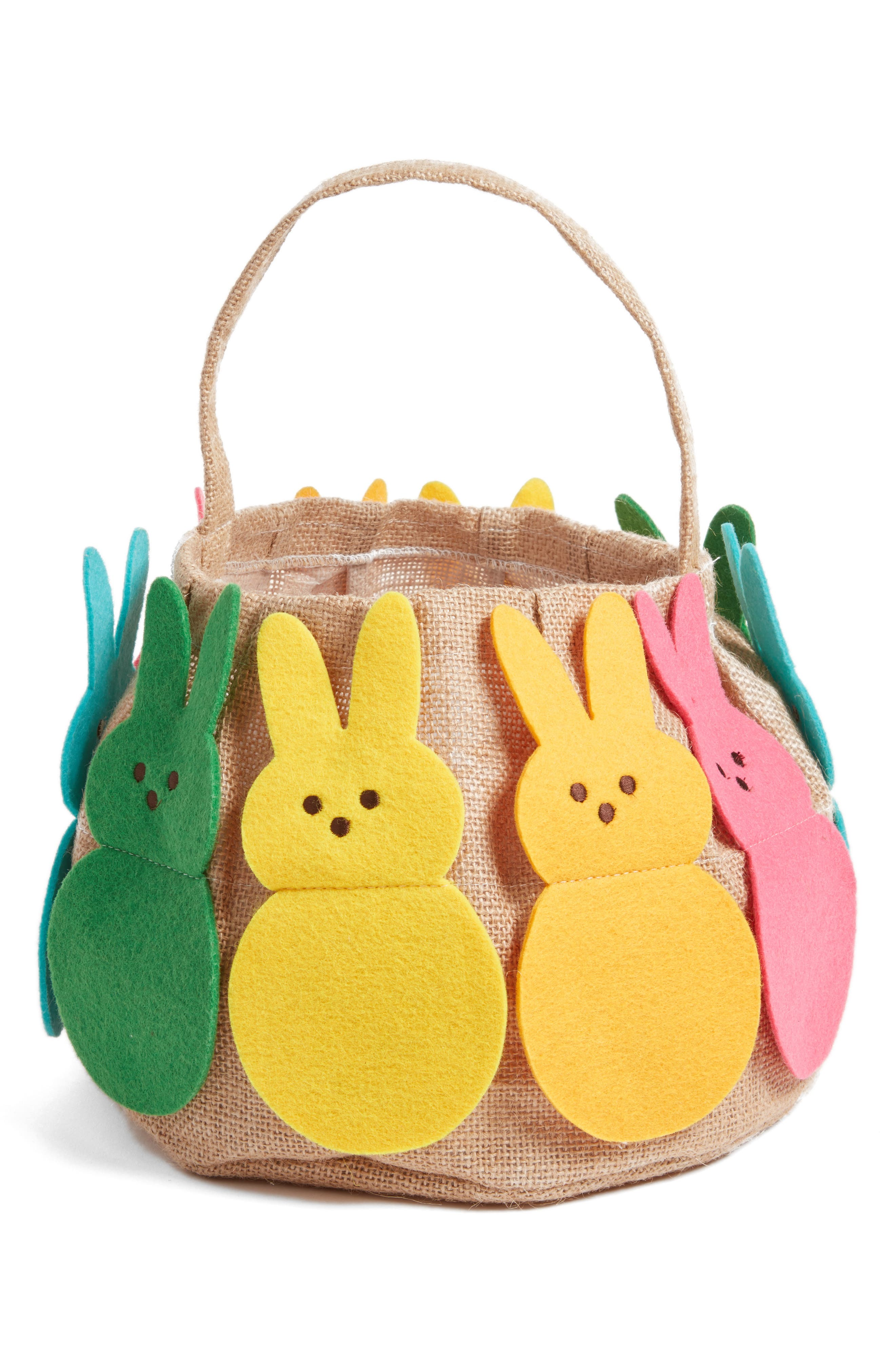 Alternate Image 1 Selected - Levtex Rainbow Bunny Basket