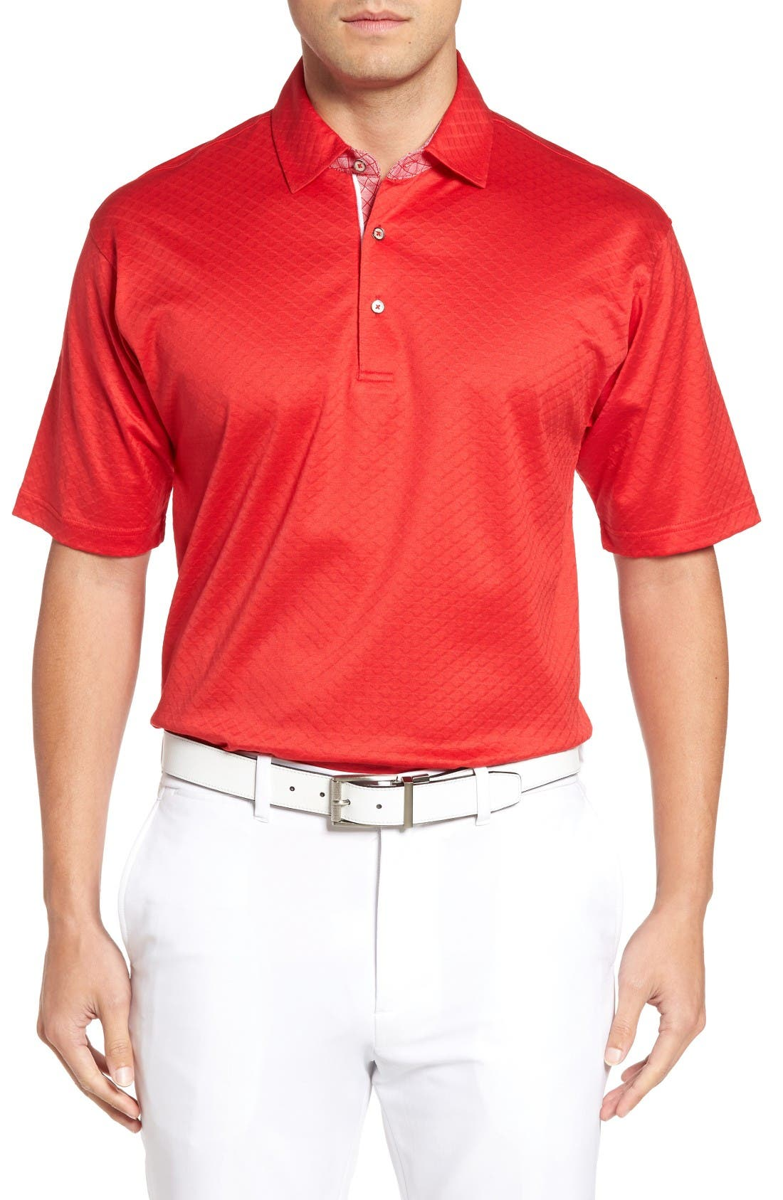 Bobby Jones Diamond Jacquard Golf Polo