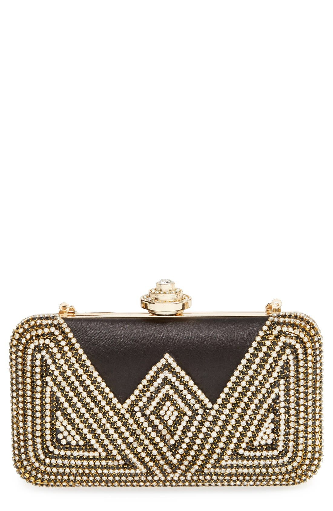 Main Image - Natasha Couture 'Deco' Crystal Clutch