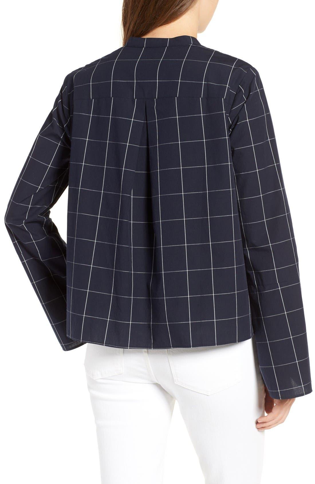 Alternate Image 2  - Madewell Windowpane Bell Sleeve Shirt