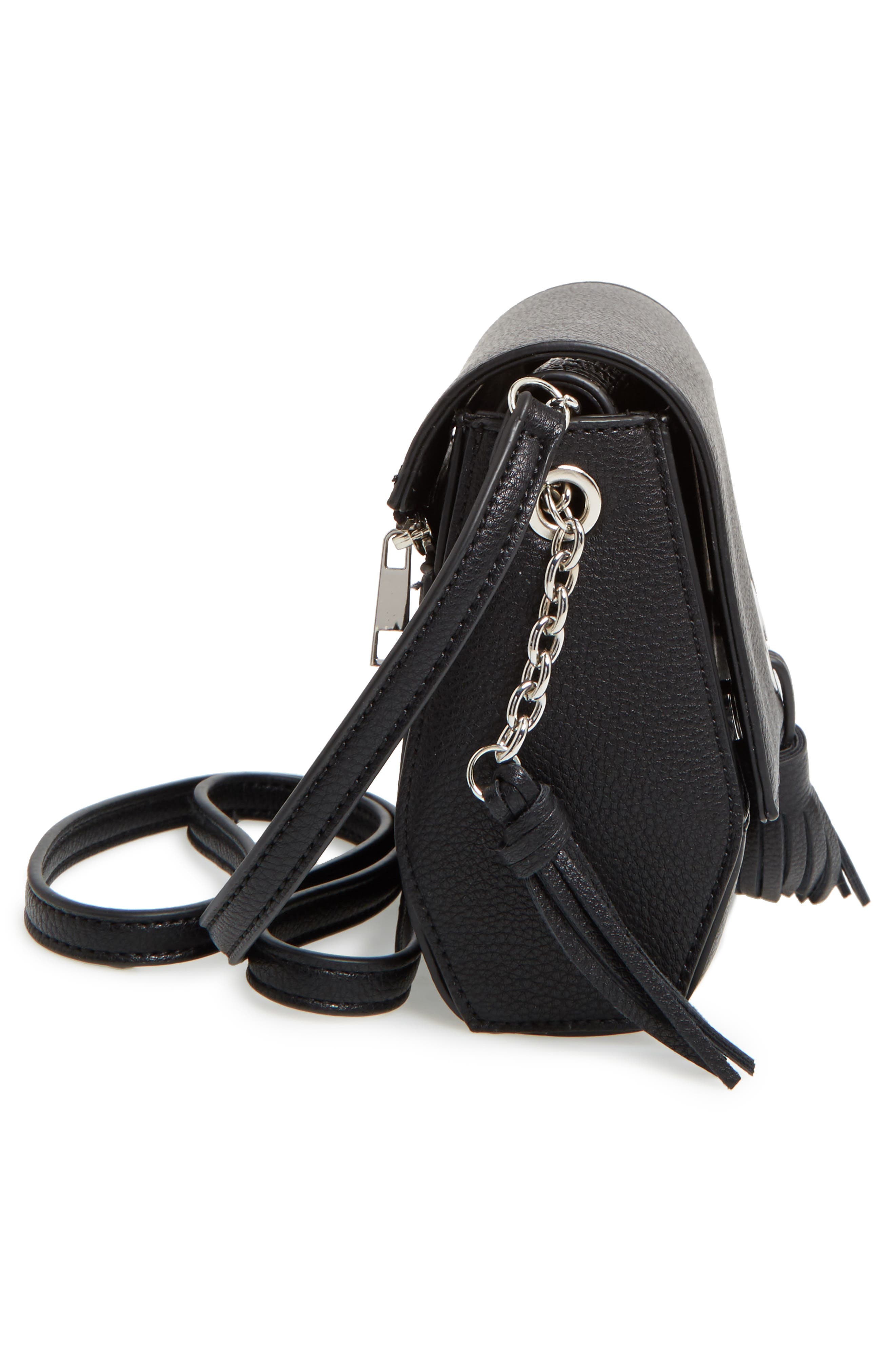 Alternate Image 4  - Street Level Convertible Faux Leather Crossbody Bag