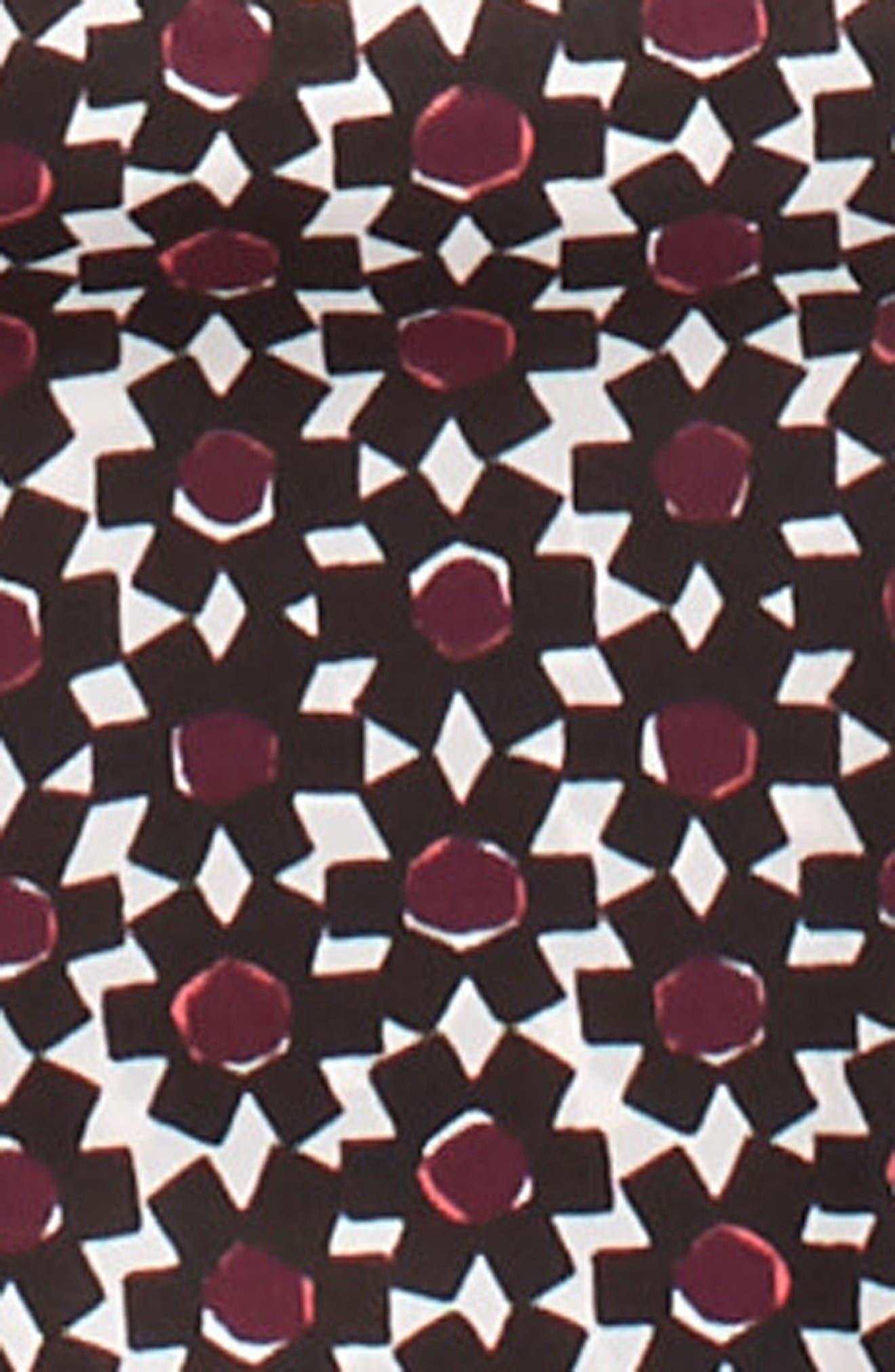 Alternate Image 3  - kate spade new york floral tile silk skinny scarf