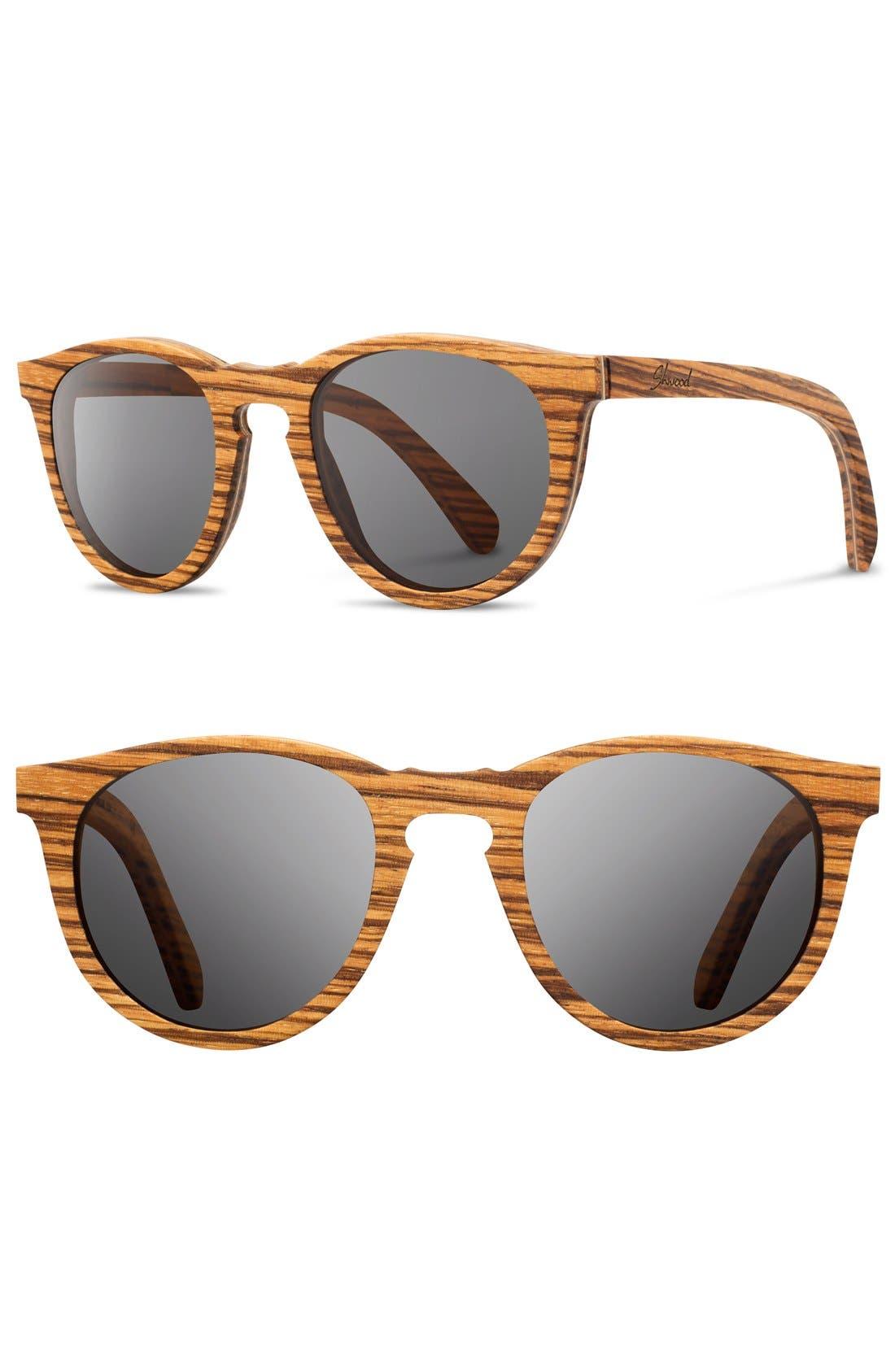 Alternate Image 1 Selected - Shwood 'Belmont' 48mm Polarized Wood Sunglasses