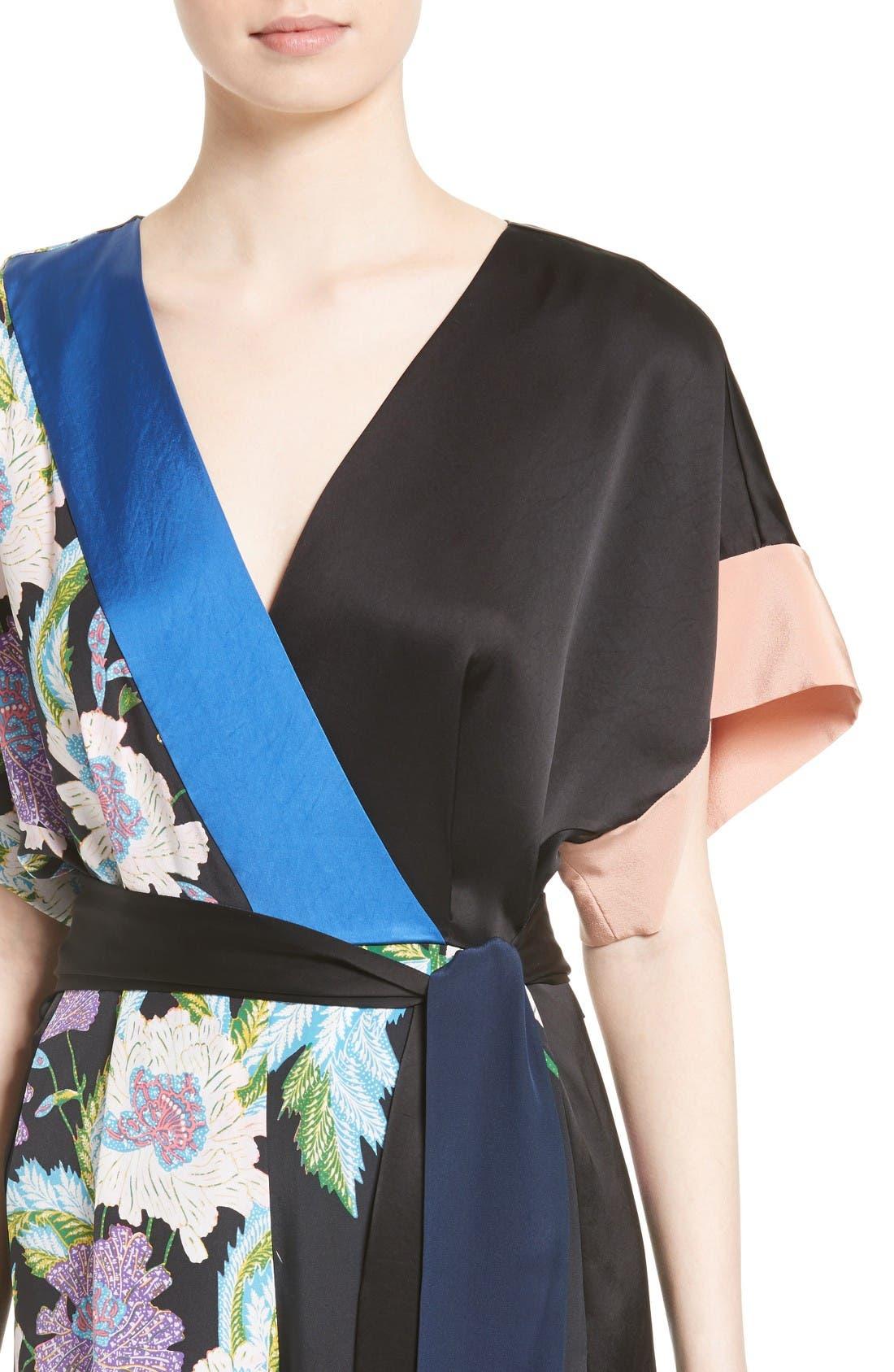Alternate Image 4  - Diane von Furstenberg Faux Wrap Silk Jumpsuit