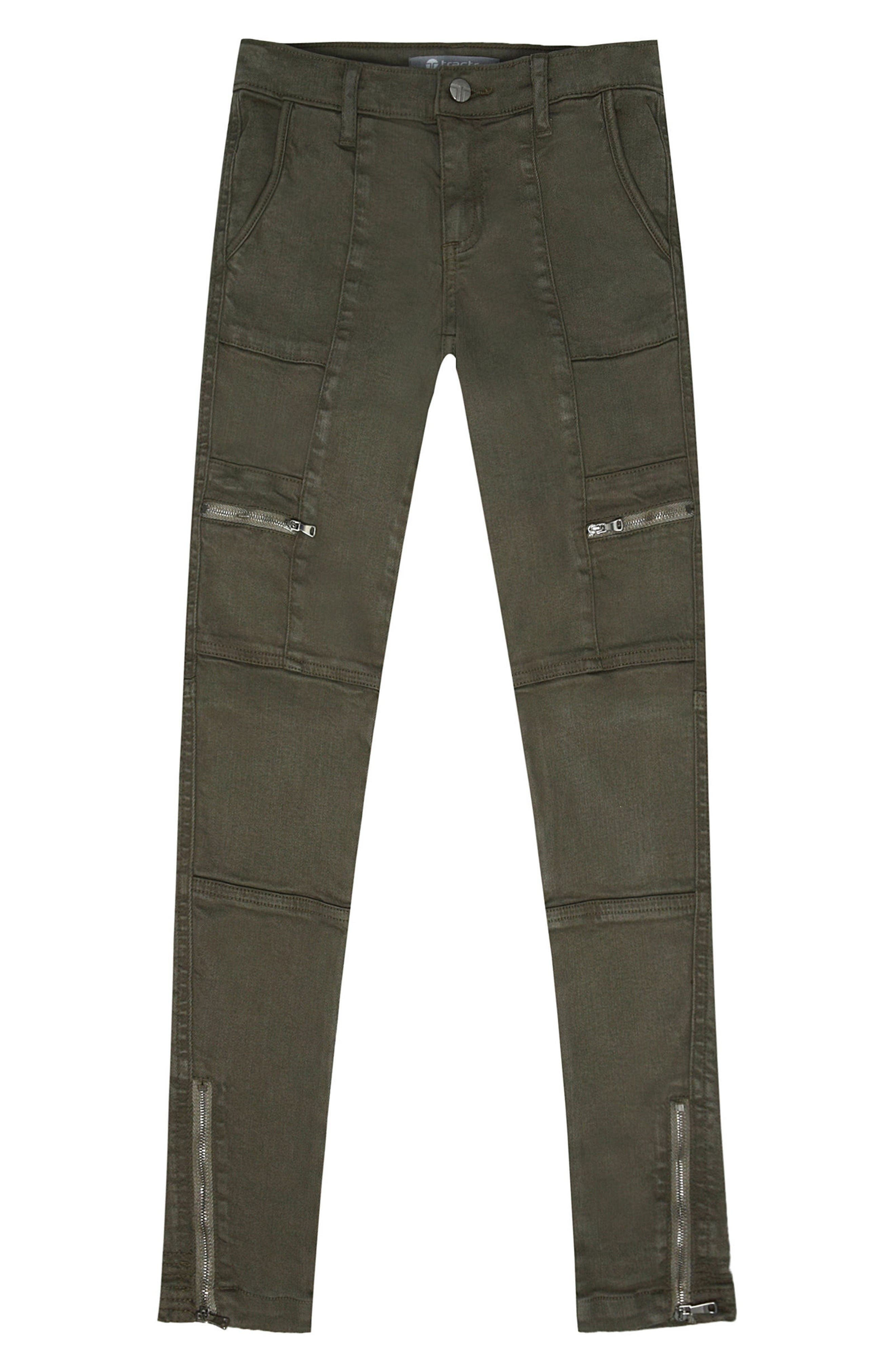 TRACTR Utility Cargo Ankle Jeans