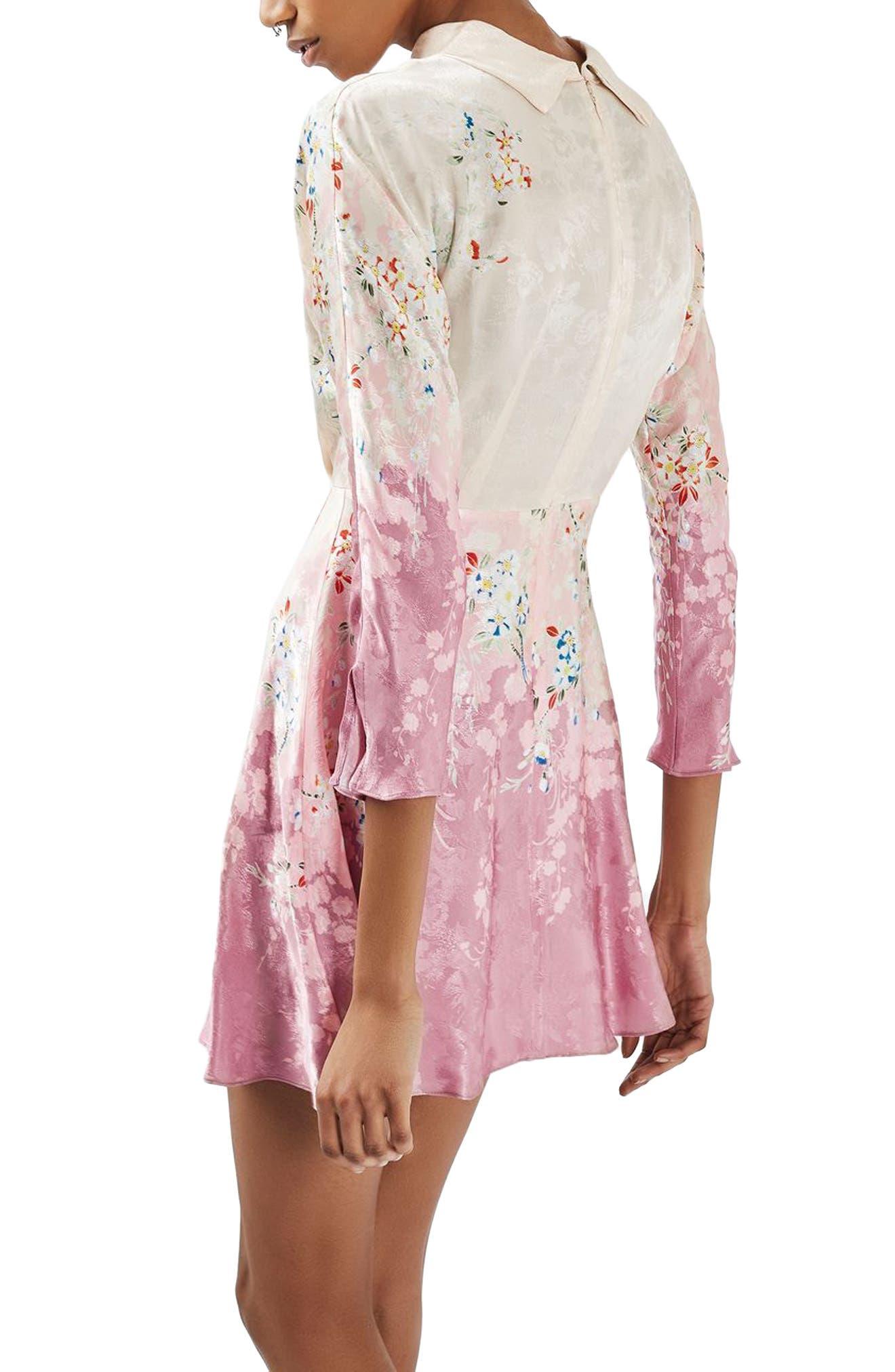 Alternate Image 3  - Topshop Jacquard Floral Print Dress