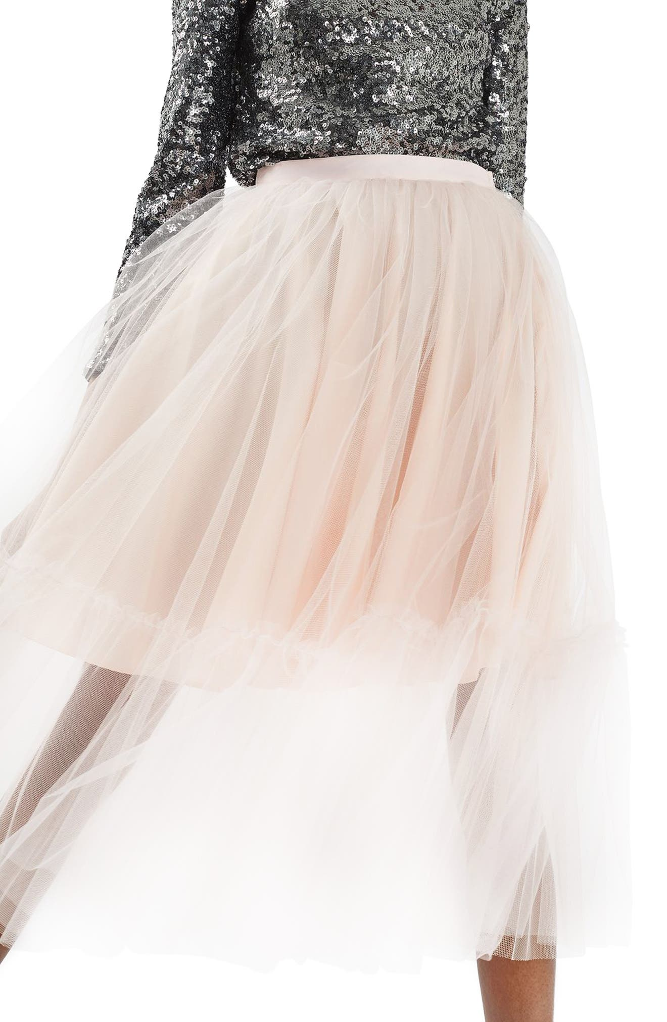 Main Image - Topshop Tutu Tulle Skirt