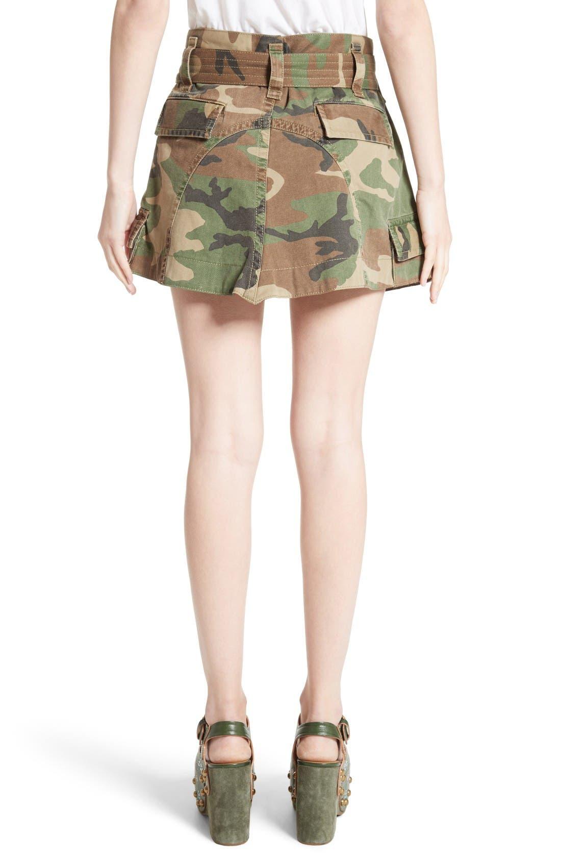 Alternate Image 2  - MARC JACOBS Camo Print Cargo Miniskirt