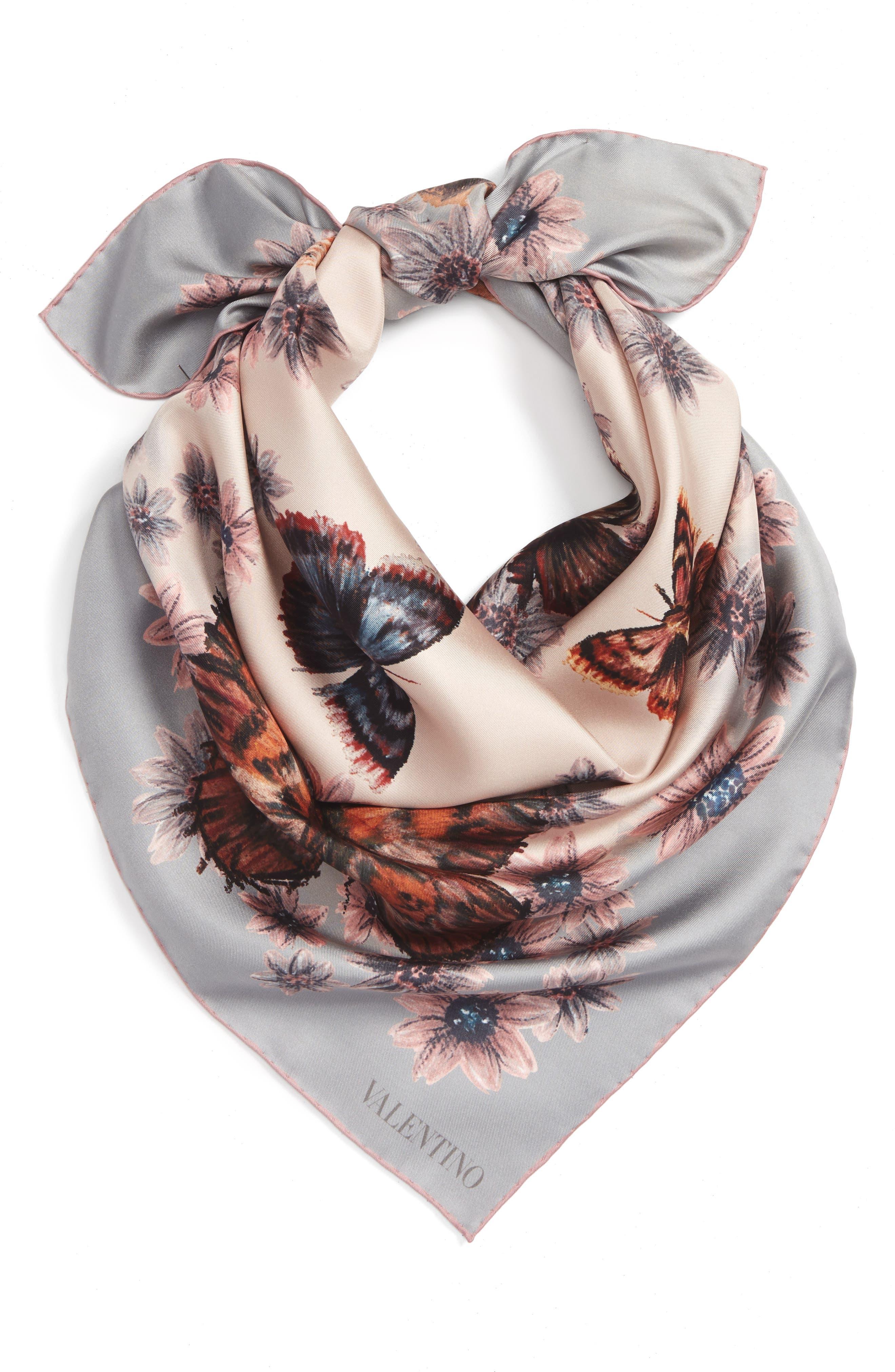 Alternate Image 2  - Valentino Mariposa Garden Silk Scarf