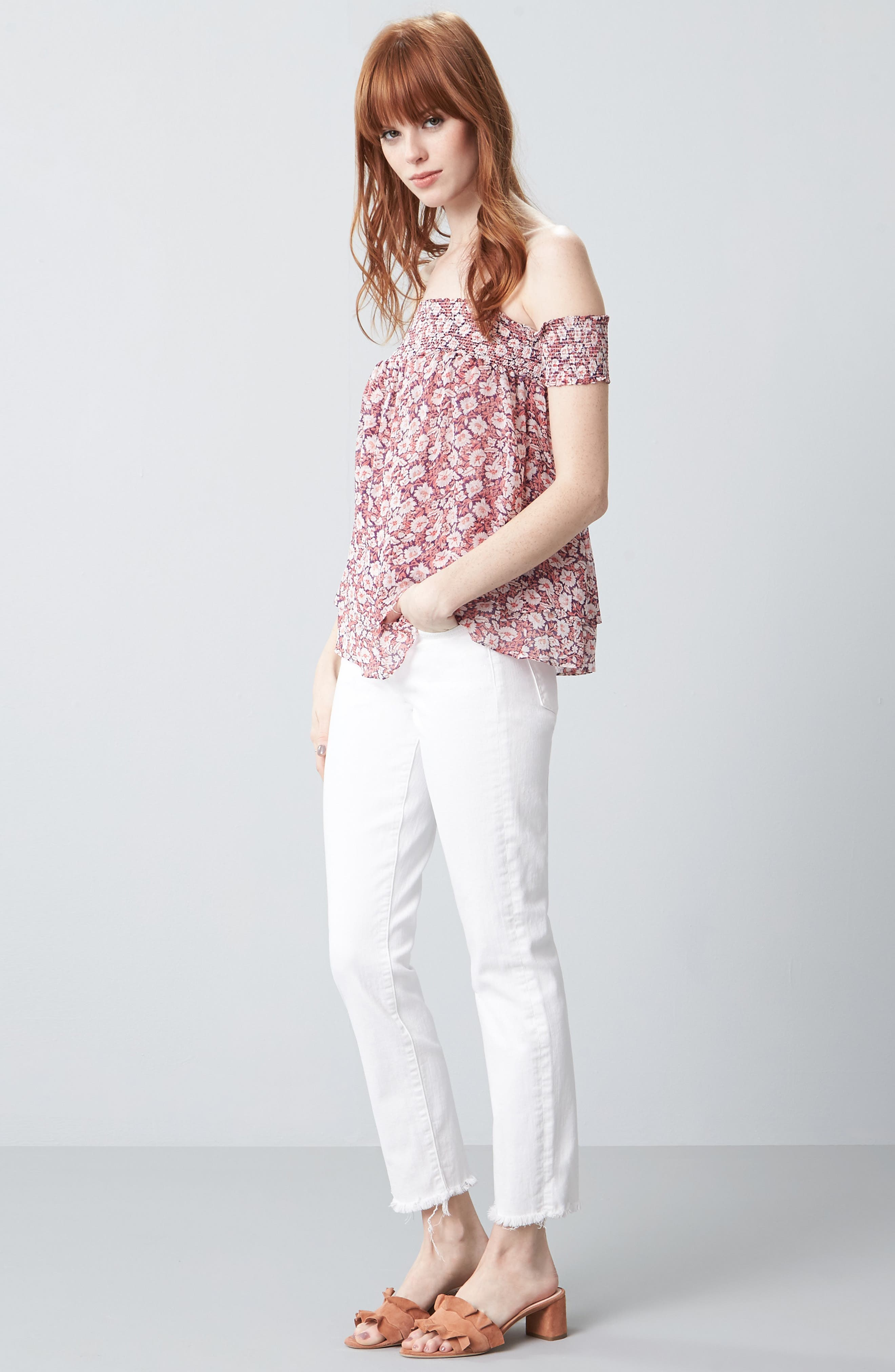 Rebecca Minkoff Top & 7 For All Mankind® Jeans Outfit with Accessories