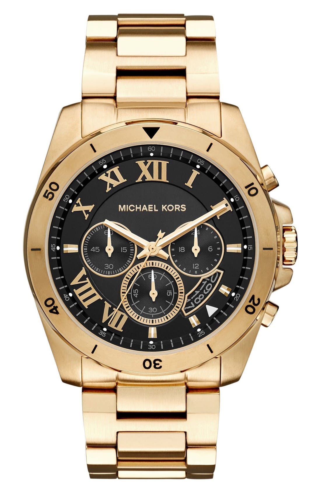 Alternate Image 1 Selected - Michael Kors 'Brecken' Chronograph Silicone Strap Watch, 44mm