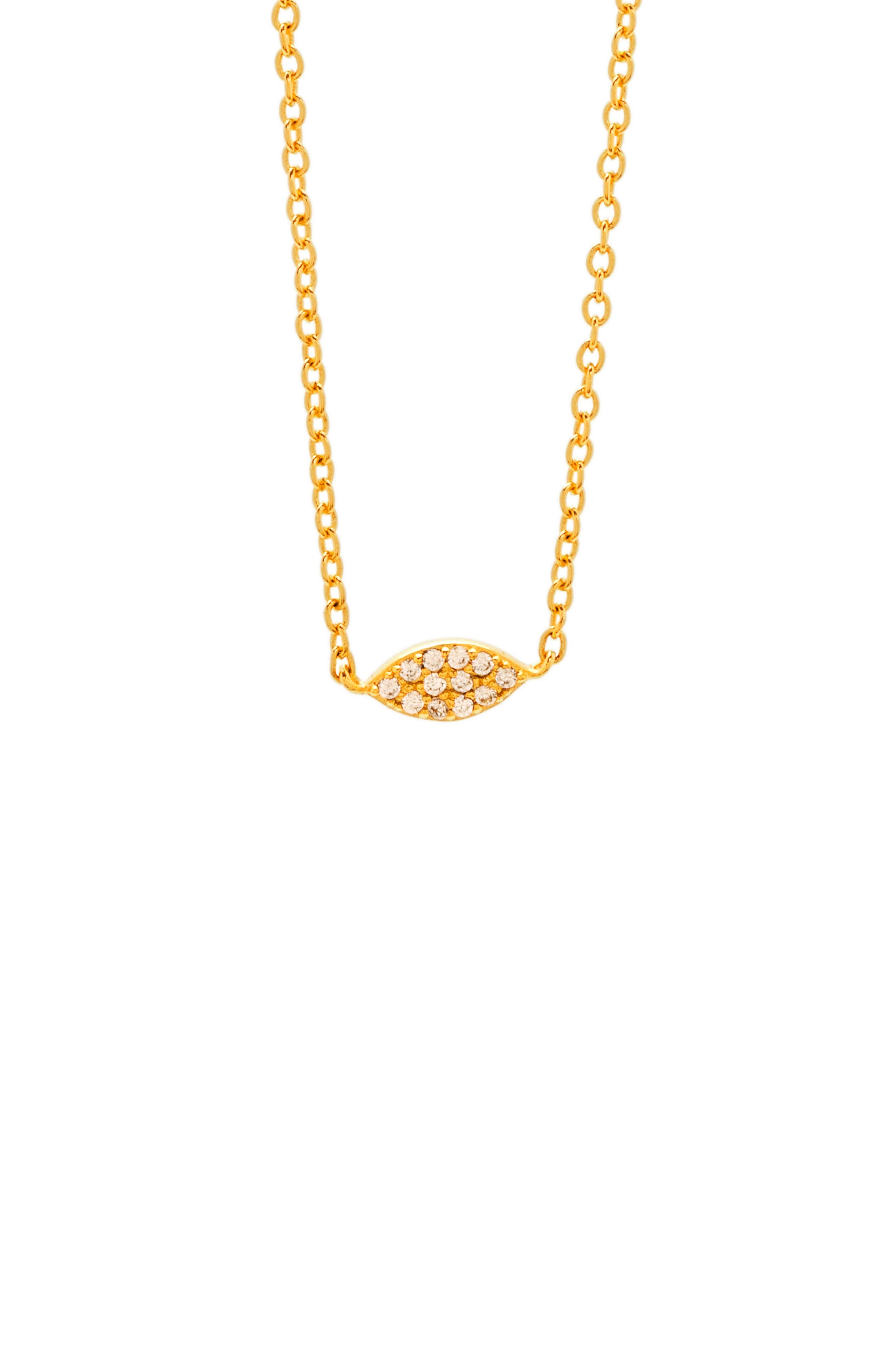 Main Image - gorjana Shimmer Marquee Pendant Necklace