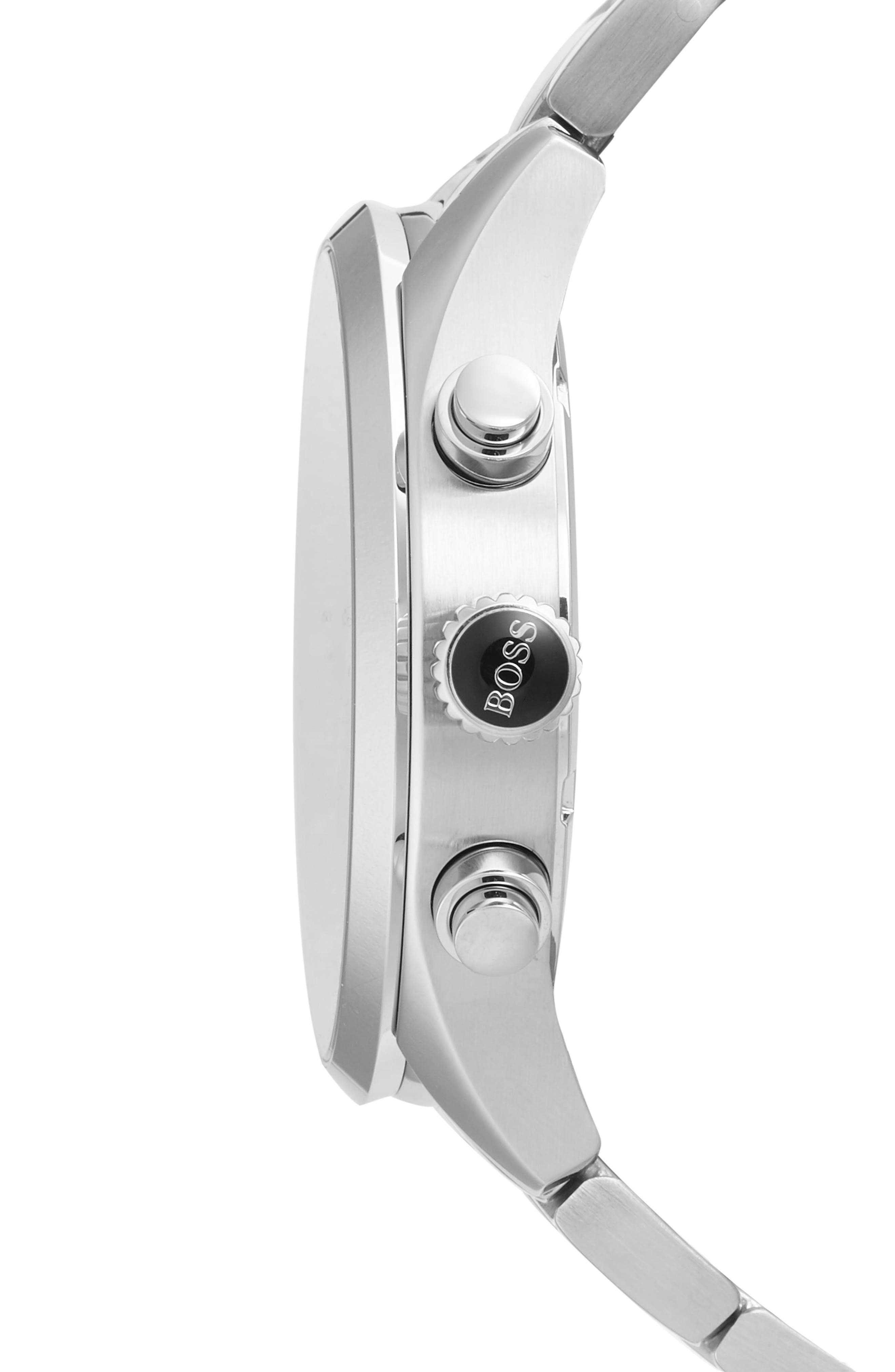 Alternate Image 3  - BOSS Grand Prix Chronograph Bracelet Watch, 44mm