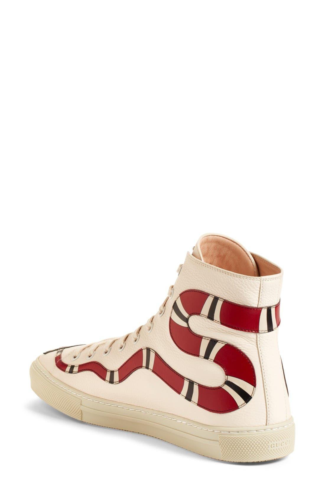 Alternate Image 2  - Gucci Major Snake High Top Sneaker (Women)
