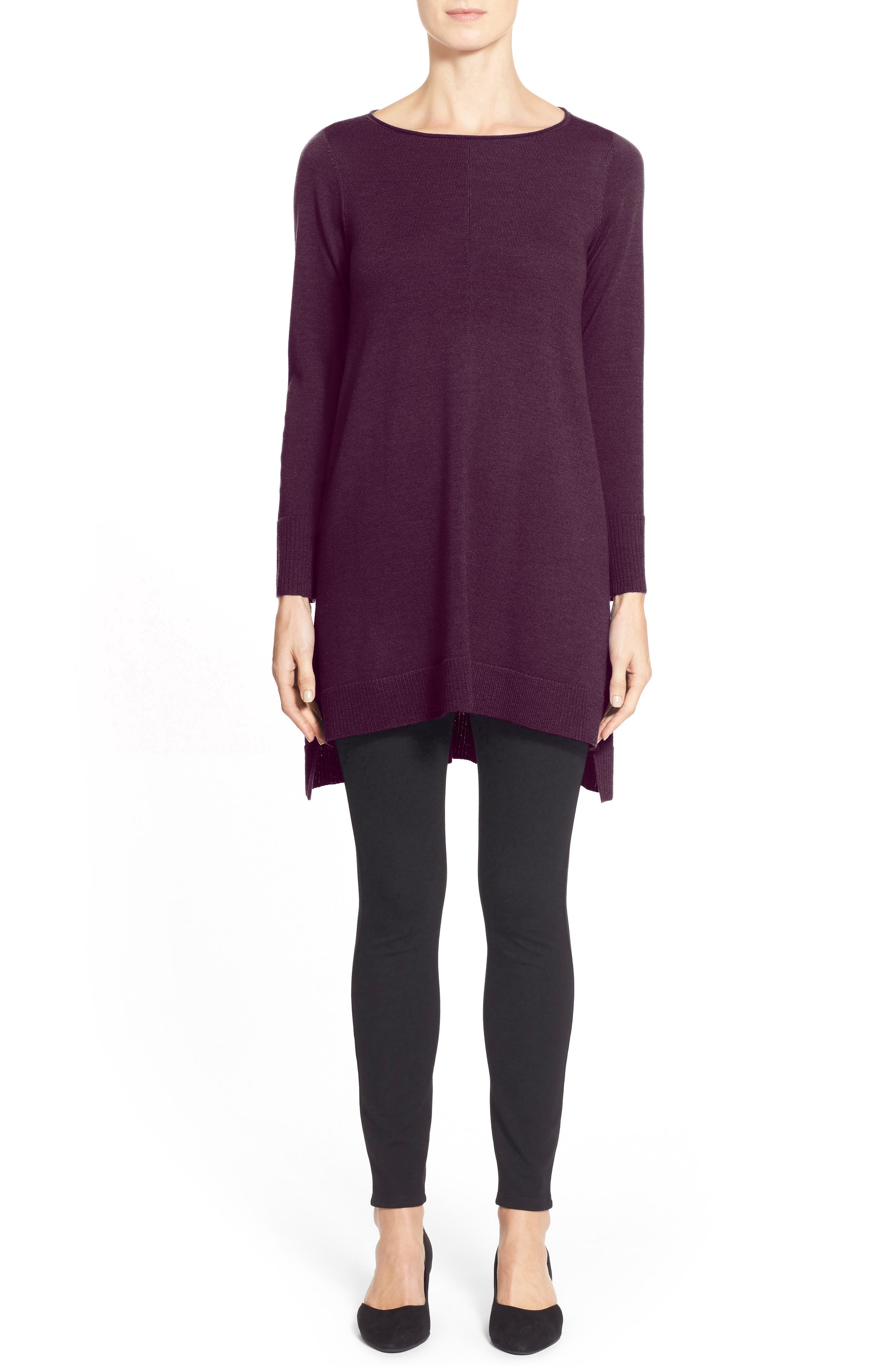 Alternate Image 1 Selected - Eileen Fisher Merino Jersey Tunic