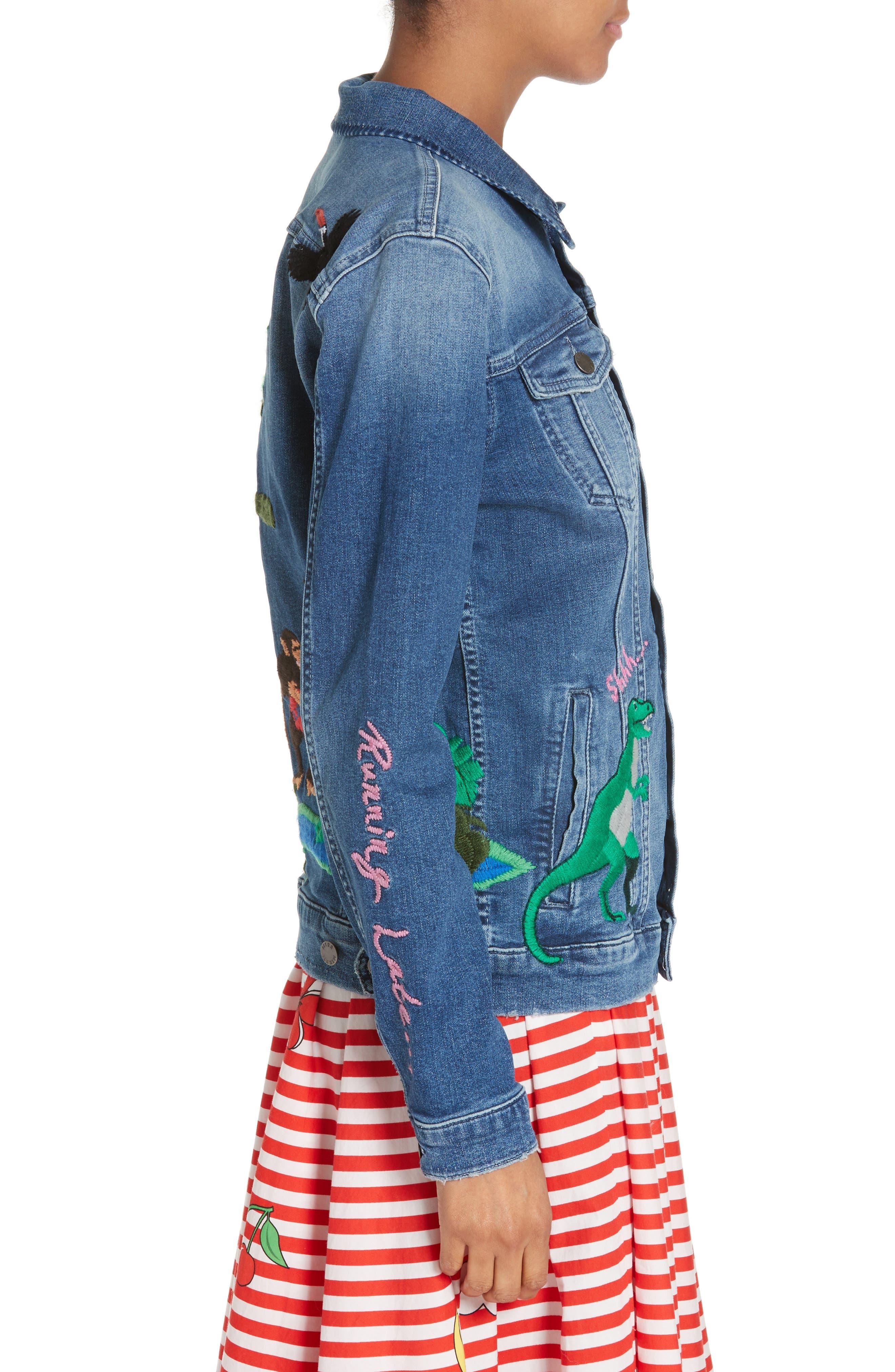 Alternate Image 5  - Mira Mikati Rainforest Embroidered Denim Jacket