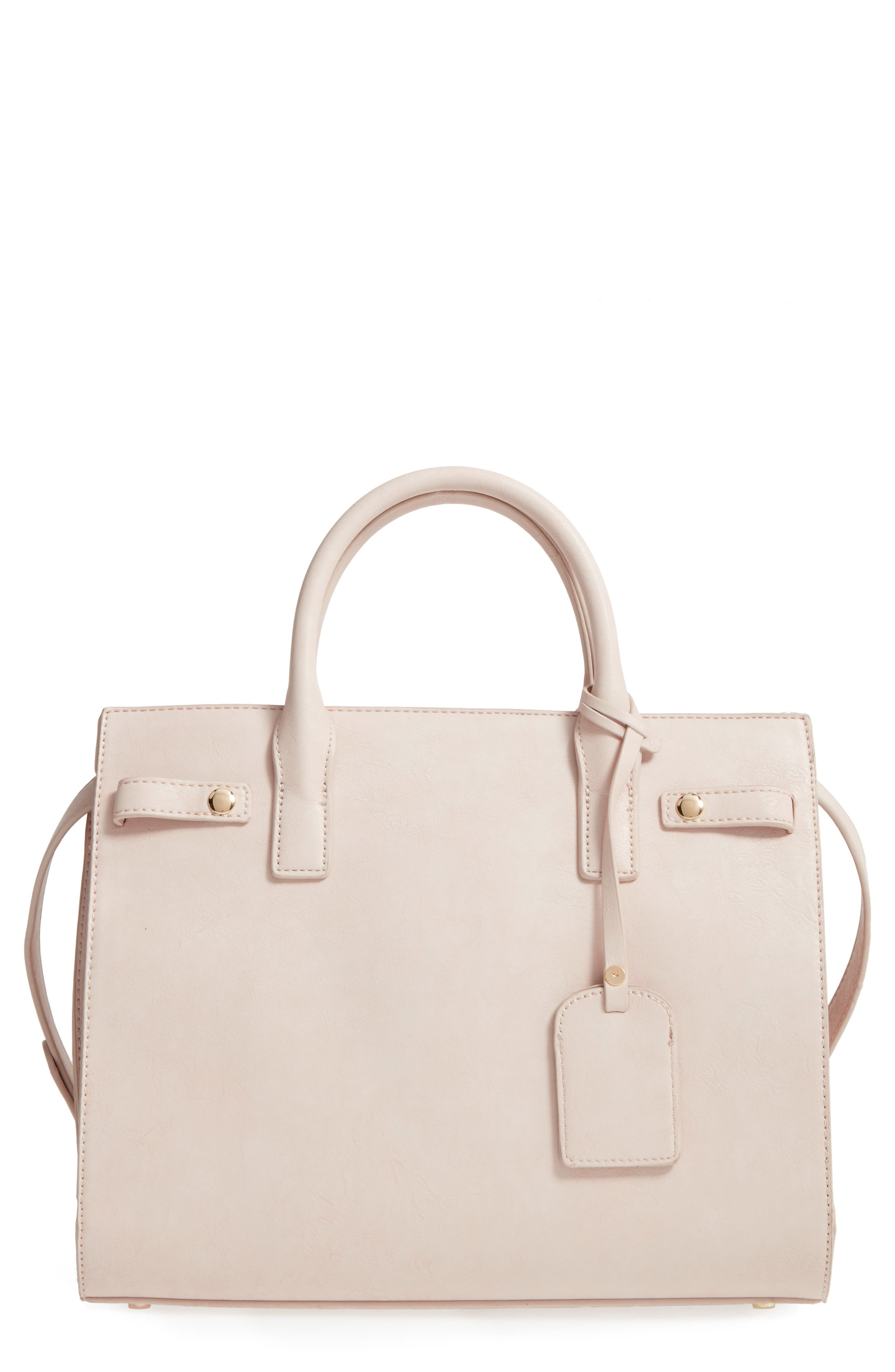 Alternate Image 1 Selected - Sole Society Athenia Faux Leather Satchel