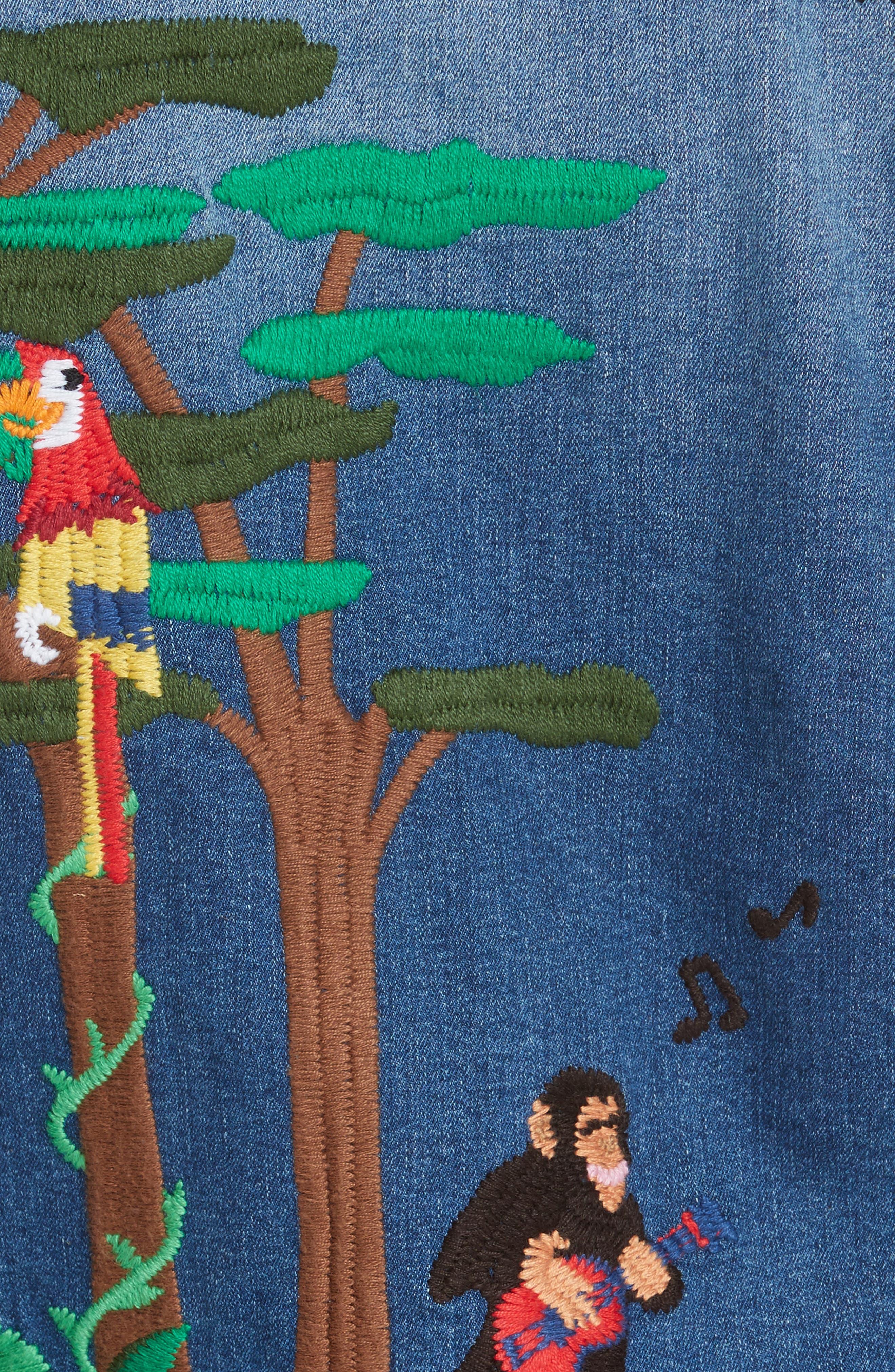 Alternate Image 3  - Mira Mikati Rainforest Embroidered Denim Jacket