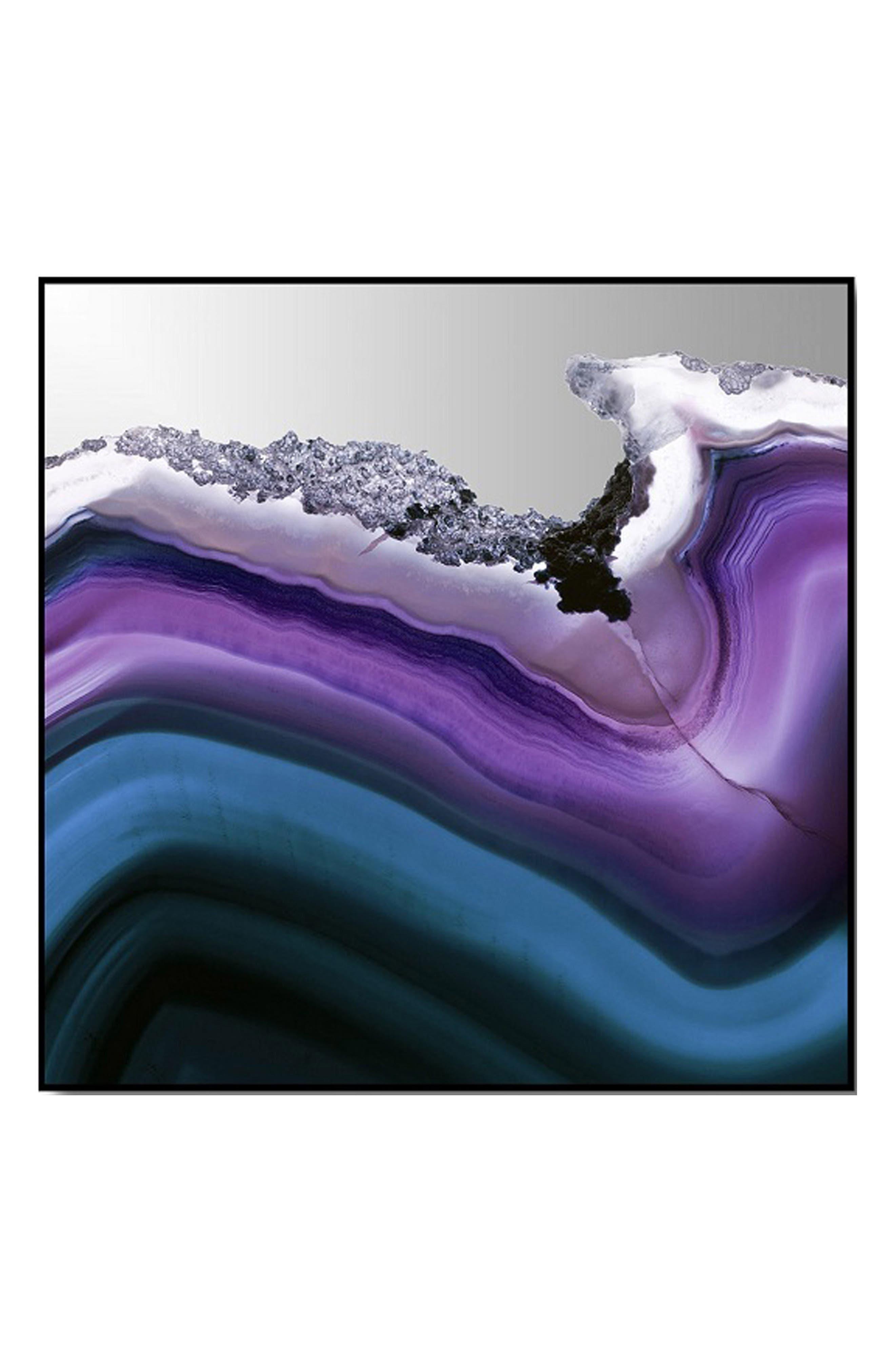 Alternate Image 1 Selected - Crystal Art Gallery Purple Agate Wave Canvas Wall Art