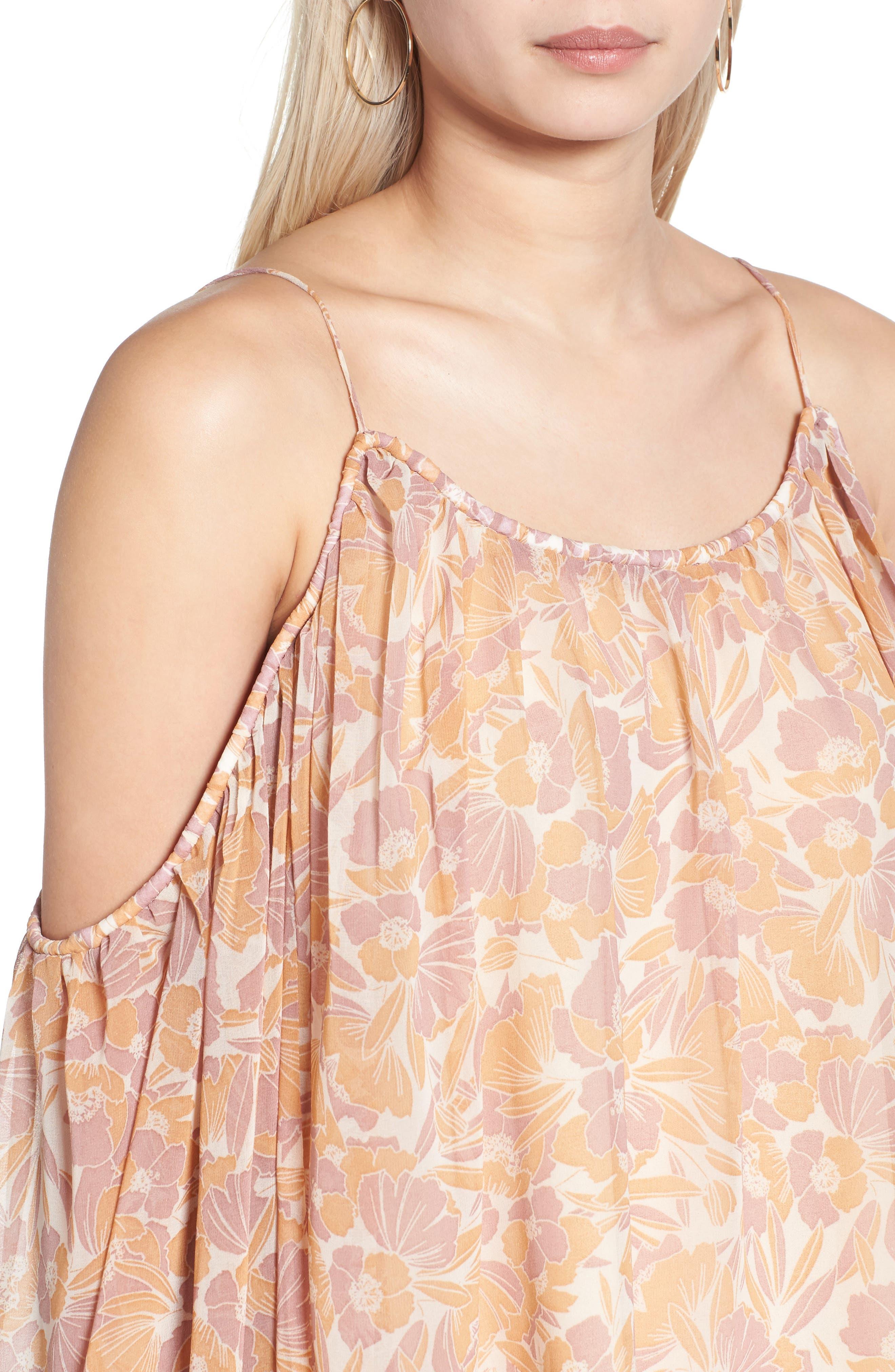Alternate Image 4  - ASTR the Label Josephine Cold Shoulder Top