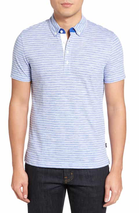 BOSS Platt Flame Stripe Polo