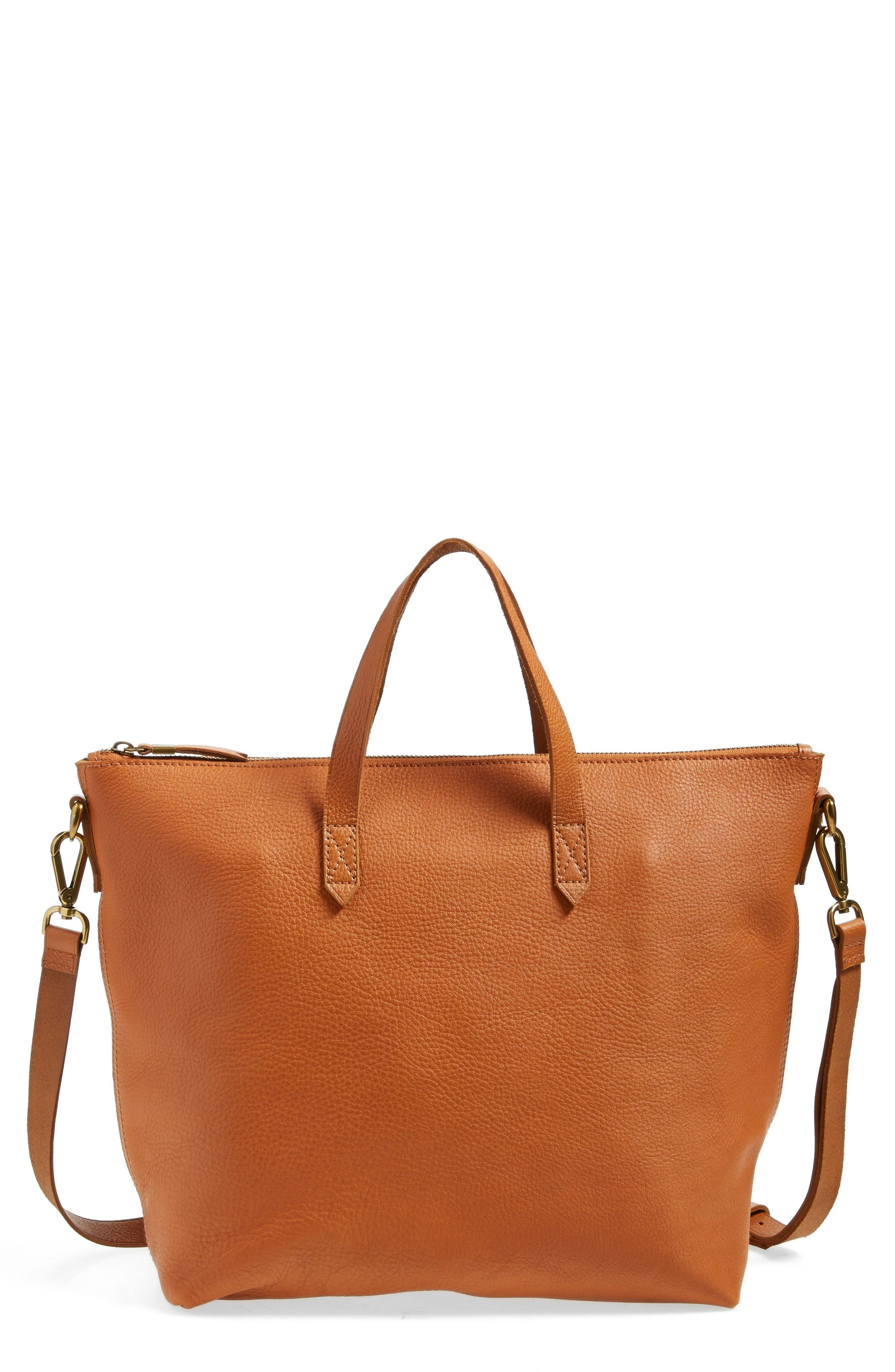 Alternate Image 1 Selected - Madewell Leather Transport Satchel