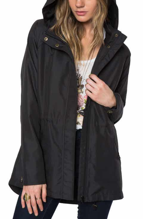 O'Neill Wendy Hooded Jacket. BLACK; CHARCOAL - Black Coats & Jackets For Women Nordstrom