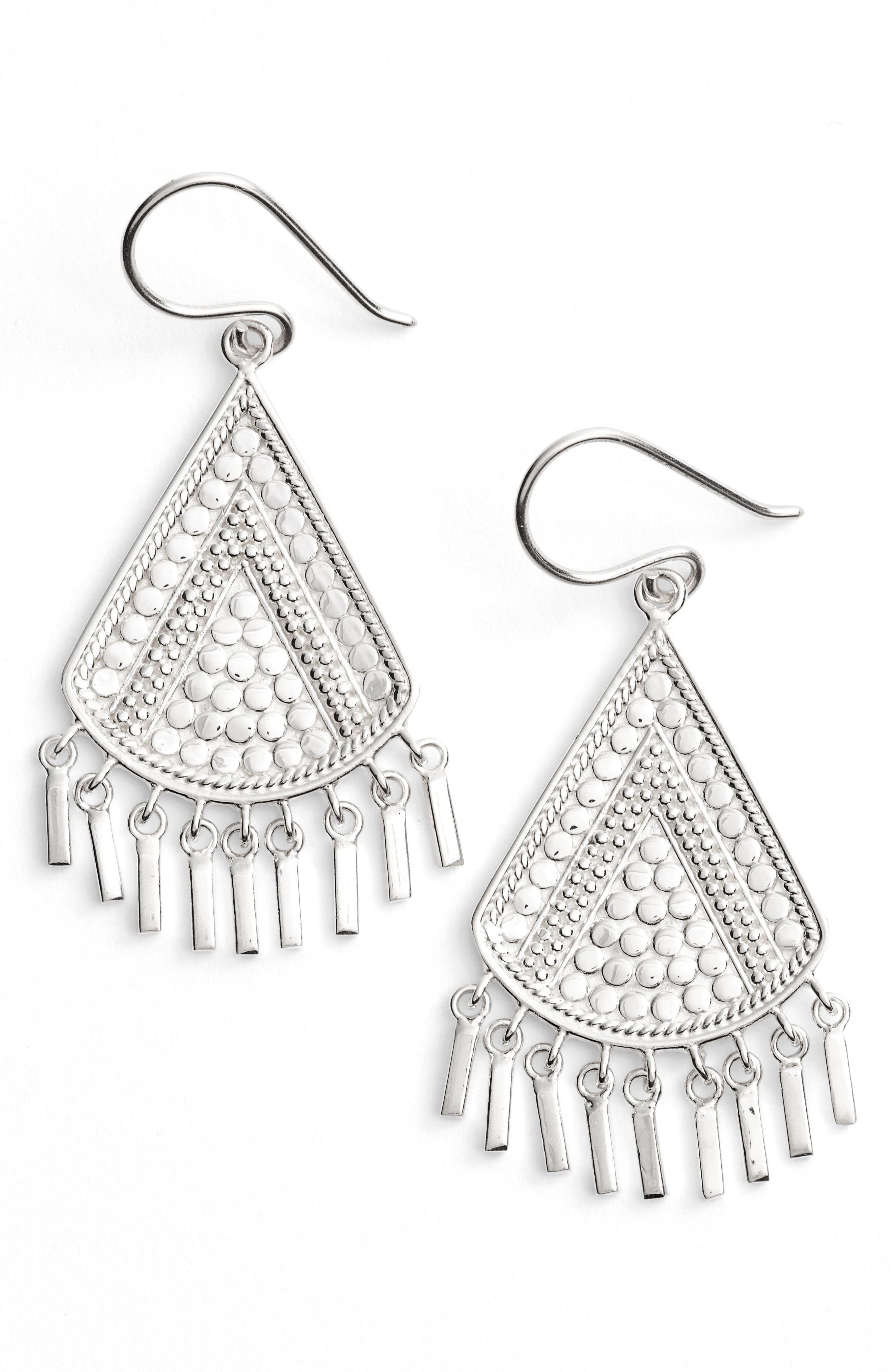 Anna Beck Signature Beaded Fringe Drop Earrings