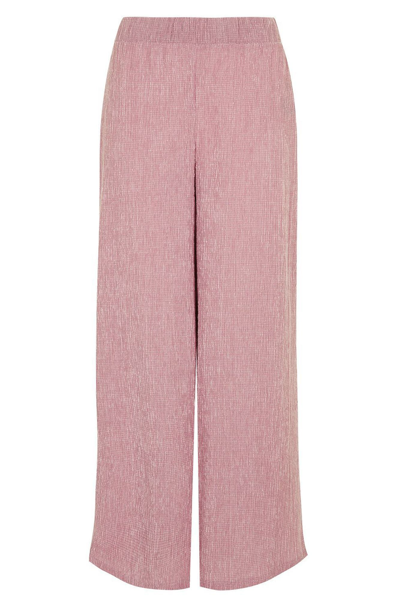 Alternate Image 4  - Topshop Textured Trousers