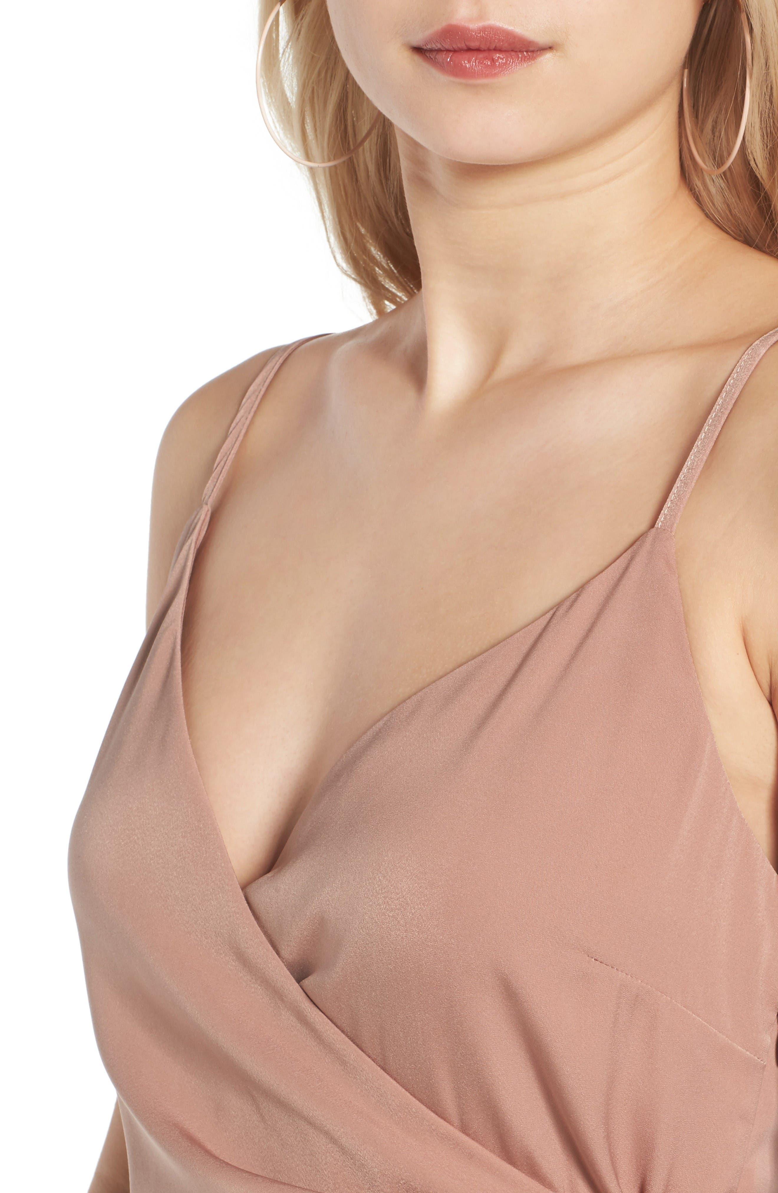 Alternate Image 4  - Leith Satin Wrap Dress