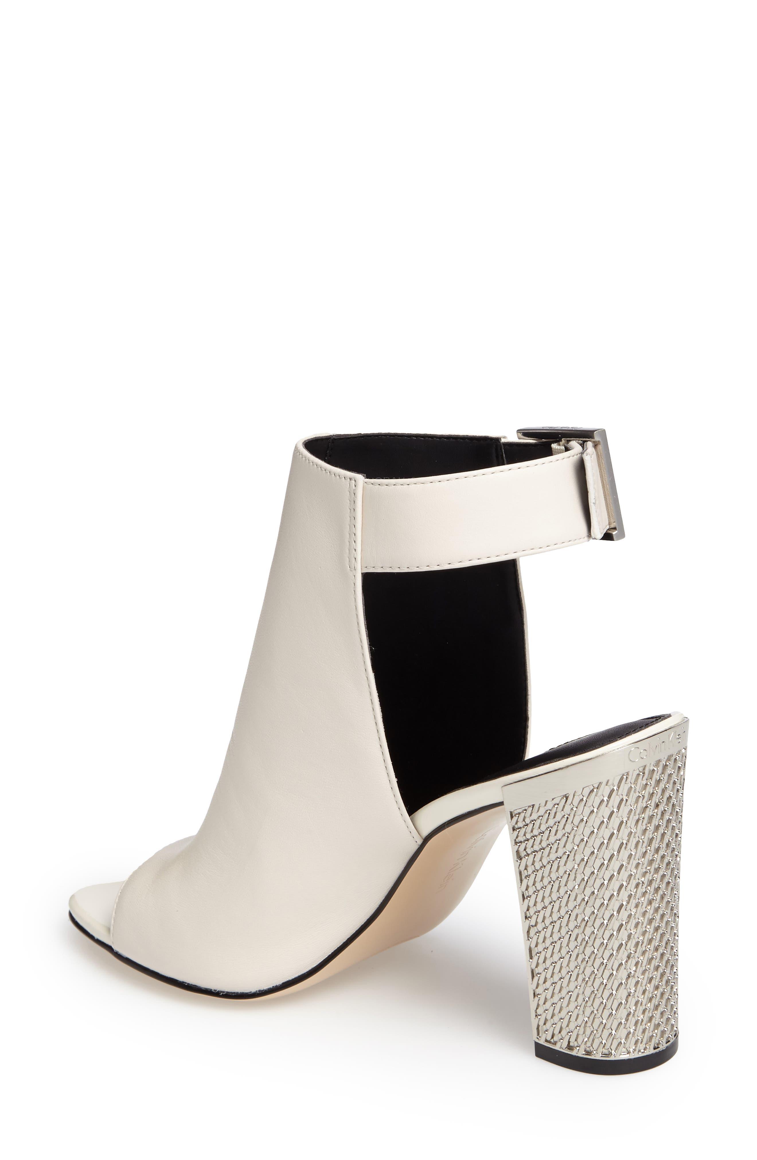 Alternate Image 2  - Calvin Klein Norah Metallic Heel Sandal (Women)
