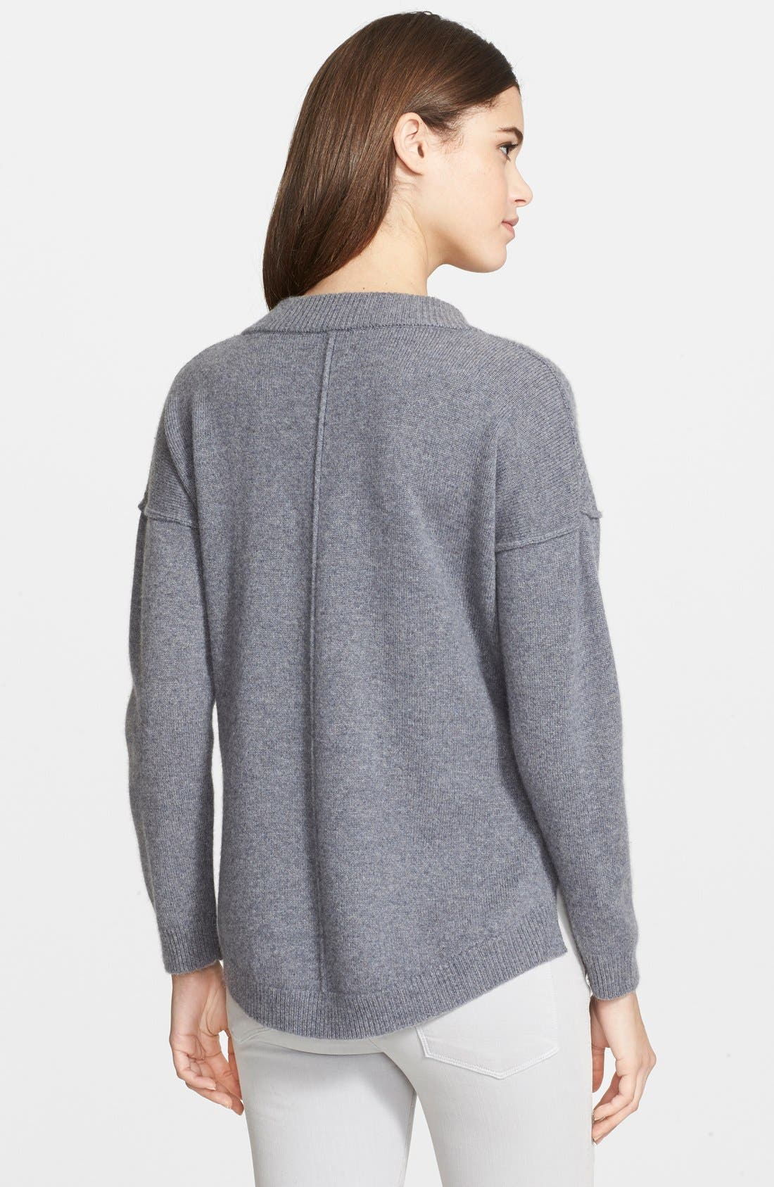 Alternate Image 2  - Frame Denim 'Le Boyfriend' V-Neck Cashmere Sweater